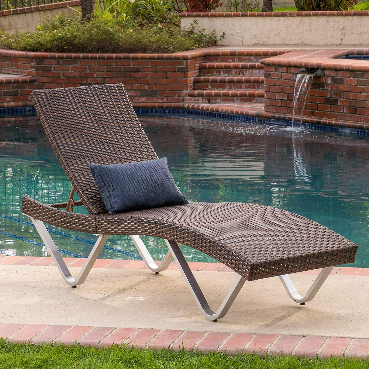 Most Current Cheap Aluminum Patio Chaise Lounge, Find Aluminum Patio In Lattice Outdoor Patio Pool Chaise Lounges With Wheels And Cushion (View 24 of 25)