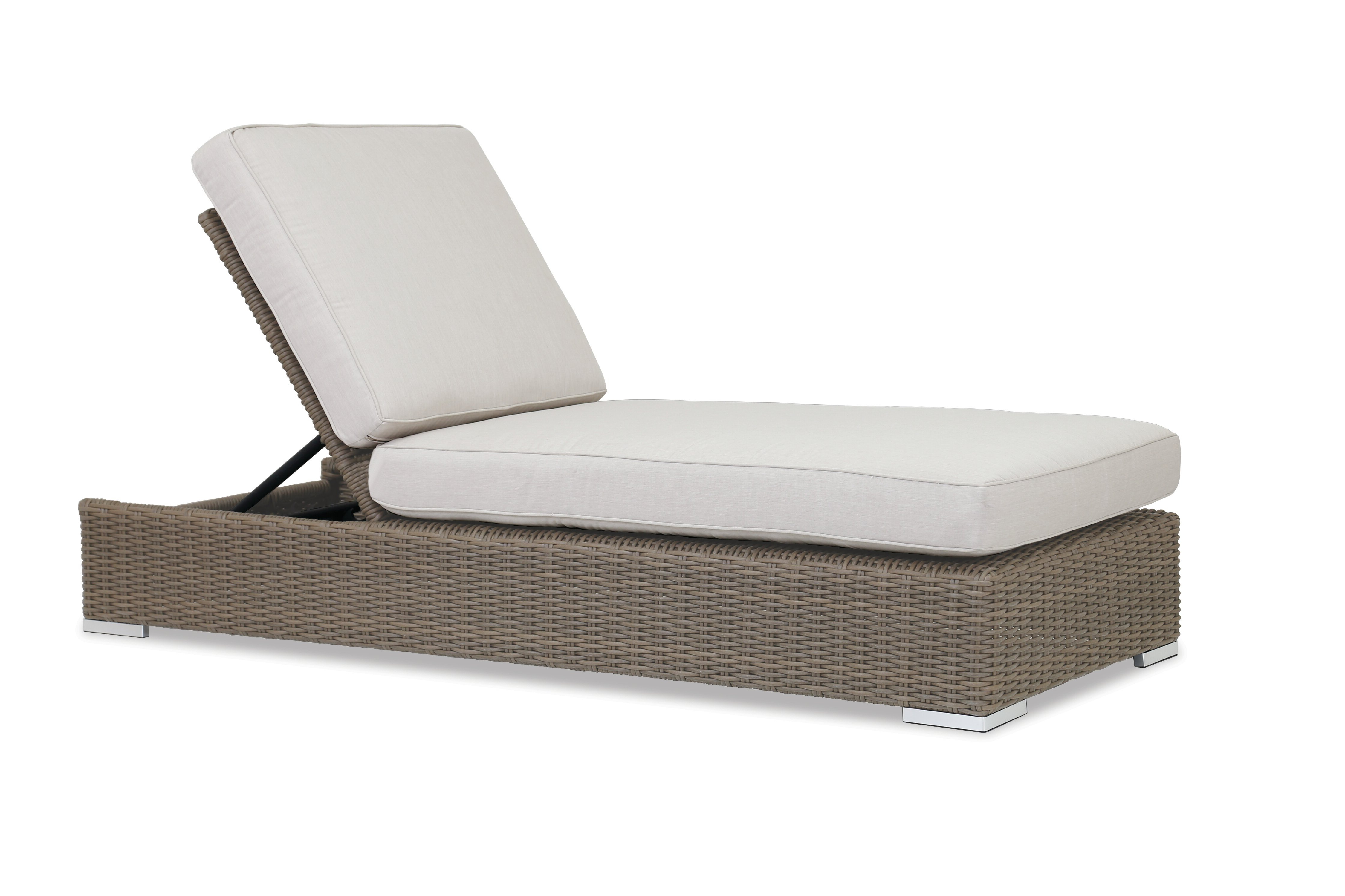 Most Current Coronado Reclining Chaise Lounge With Cushion Throughout White Wicker Adjustable Chaise Loungers With Cushions (View 9 of 25)