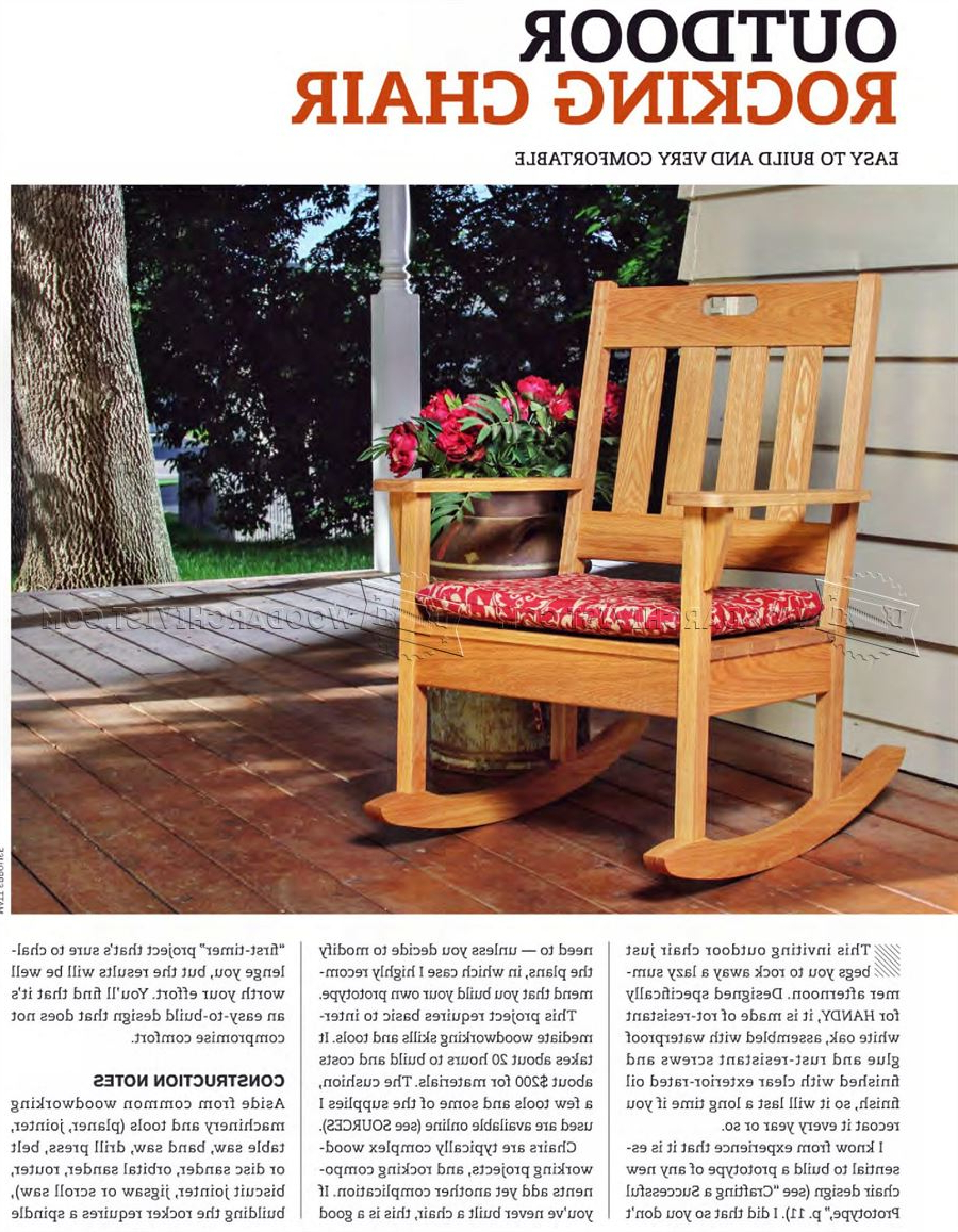 Most Current Easy Outdoor Rocking Lounge Chairs Intended For Outdoor Rocking Chair Plans • Woodarchivist (View 25 of 25)