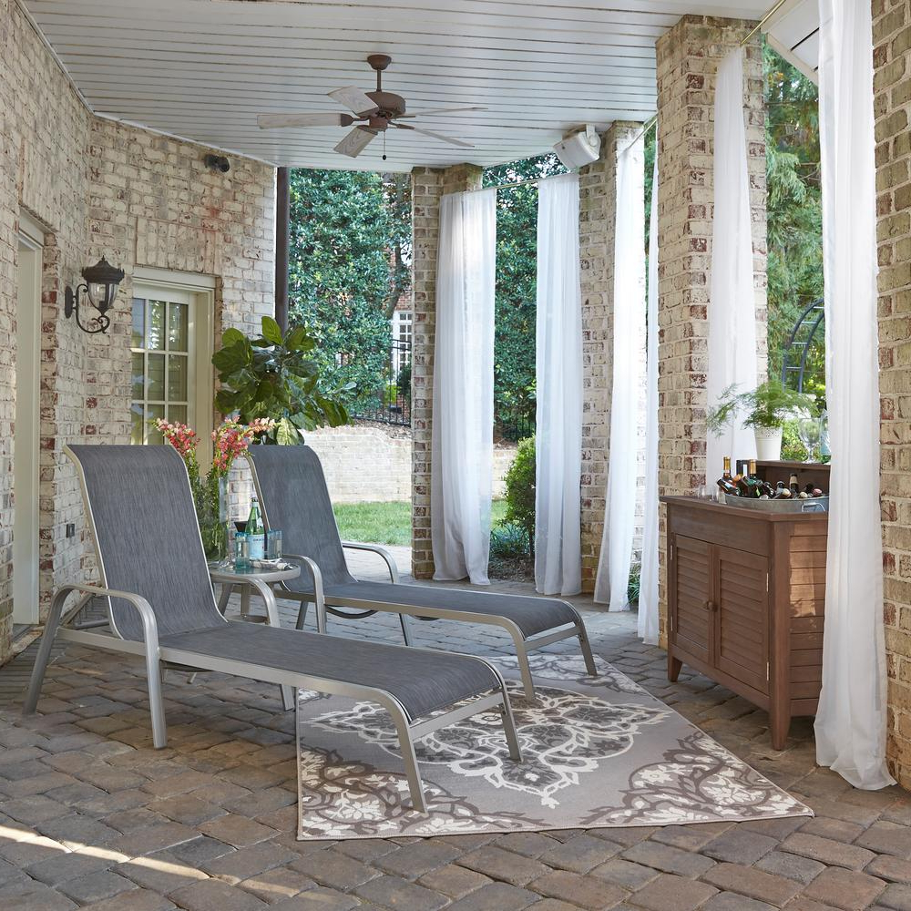 Most Current Home Styles South Beach Gray 2 Piece Aluminum Outdoor Chaise Lounge Throughout Shore Aluminum Outdoor Chaise Lounges (View 4 of 25)