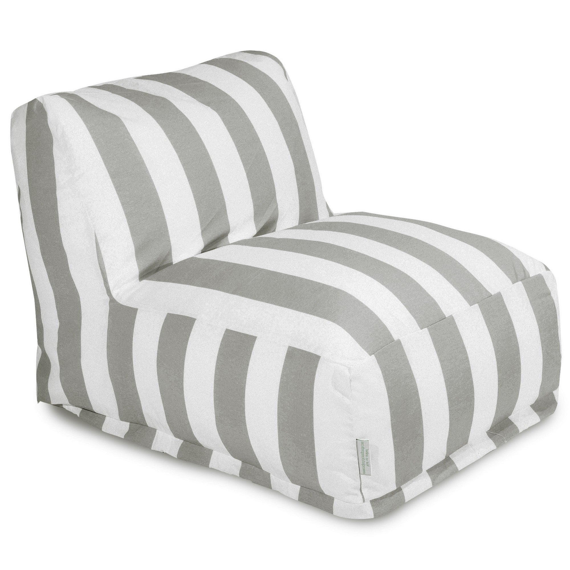 Most Current Indoor/outdoor Vertical Stripe Bean Bag Chair Loungers Inside Majestic Home Goods Indoor Outdoor Vertical Stripe Bean Bag Chair Lounger  36 In L X 27 In W X 24 In H (View 1 of 25)