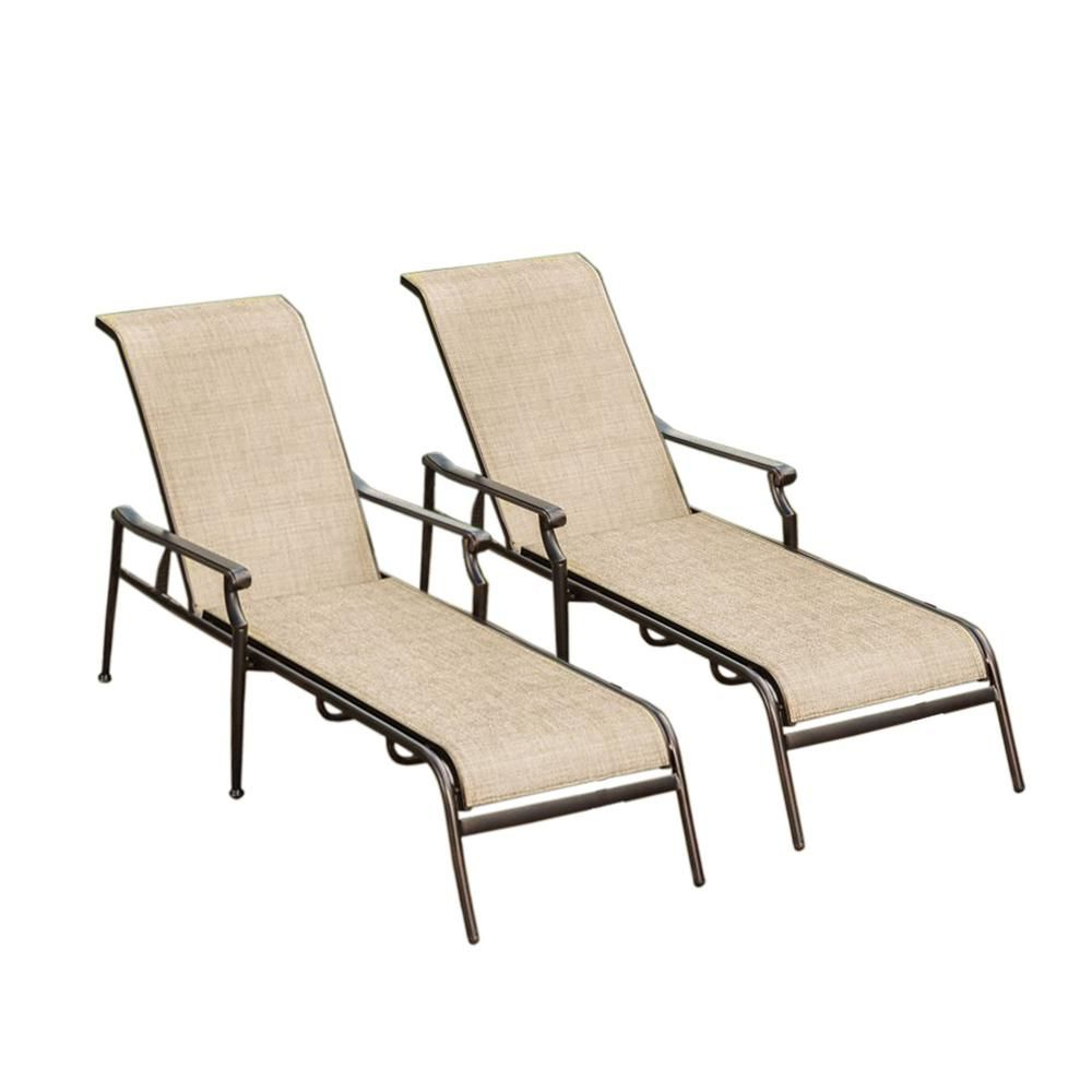 Most Current Oakland Living Bali Sling Aluminum Metal Outdoor Indoor Pair In Steel Sling Fabric Outdoor Folding Chaise Lounges (Gallery 22 of 25)