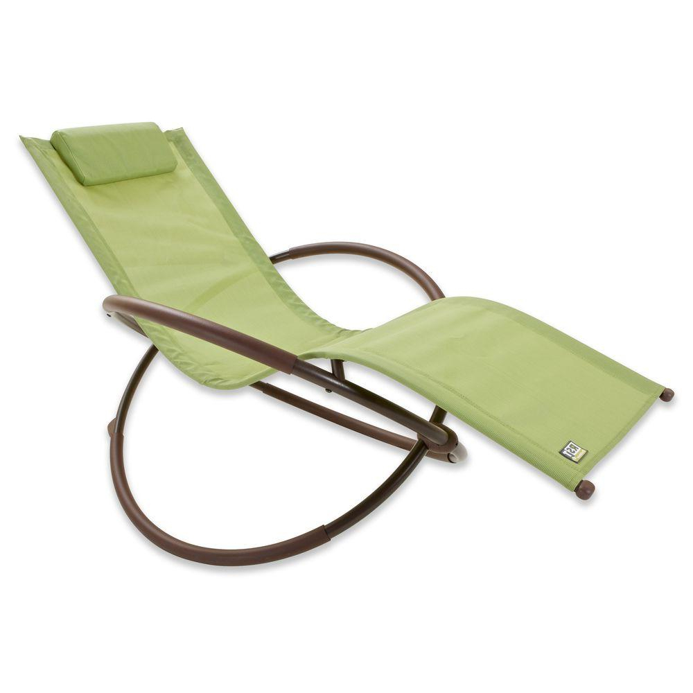 Most Current Orbital Patio Lounger Rocking Chairs Regarding Rst Brands Orbital Sling Patio Lounger Chaise In Green (View 6 of 25)