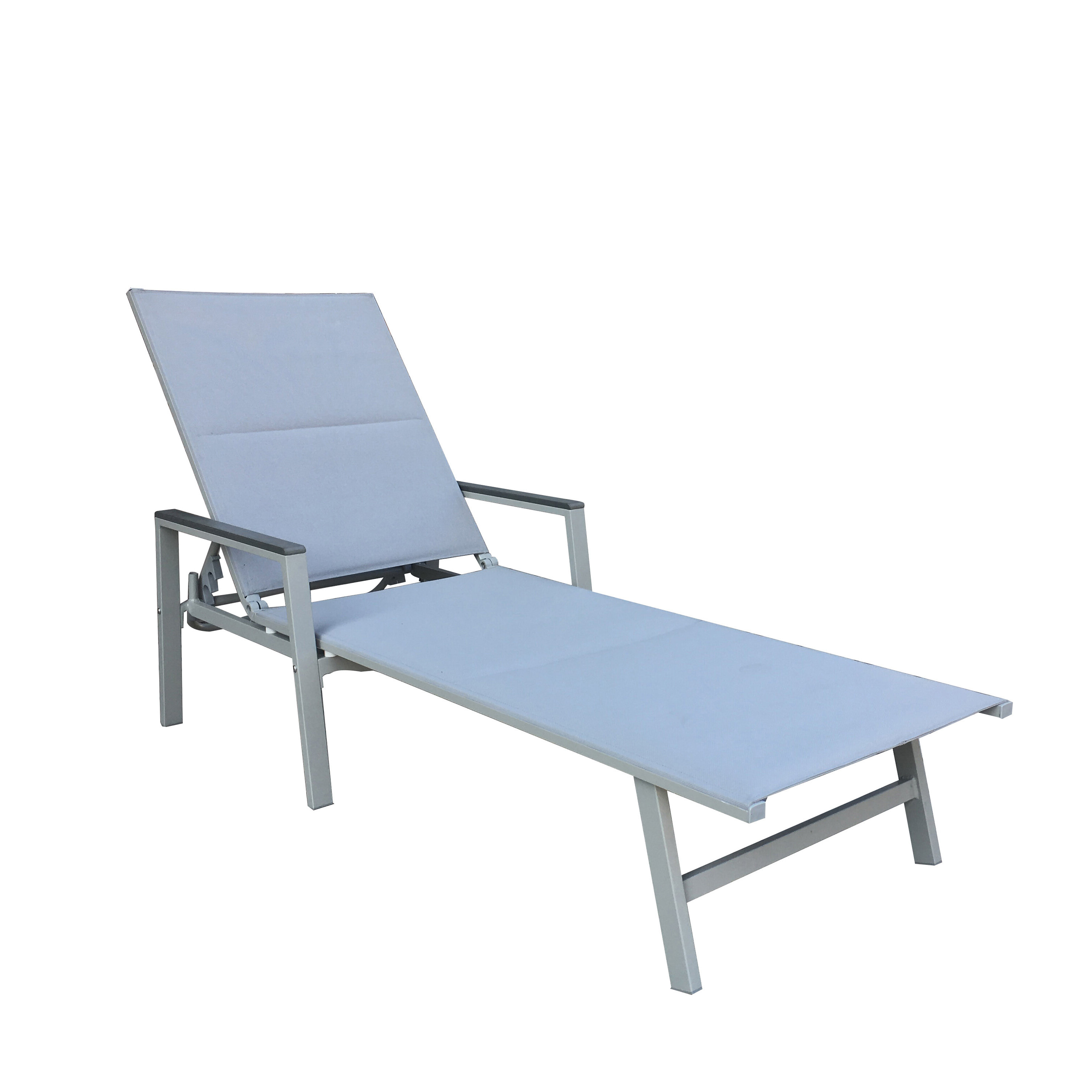Most Current Reclining Sling Chaise Lounges Throughout Peterkin Sling Patio Reclining Chaise Lounge (View 9 of 25)