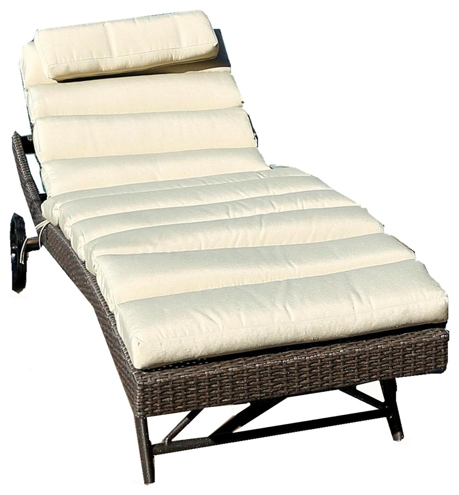Most Current South Beach 3 Piece Chaise Lounge Set With Envisage Chaise Outdoor Patio Wicker Rattan Lounge Chairs (View 16 of 25)
