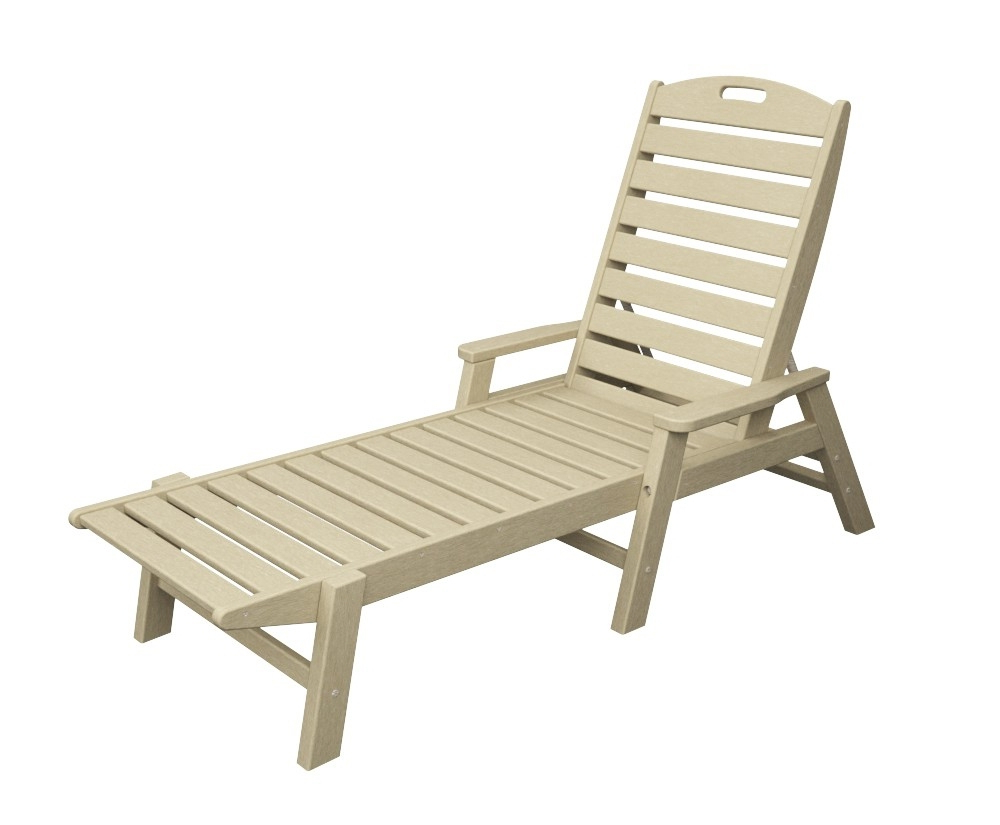 Most Current Stackable Nautical Outdoor Chaise Lounges Regarding Polywood® Nautical Chaise W/ Arms – Stackable – Amish Yard (Gallery 10 of 25)