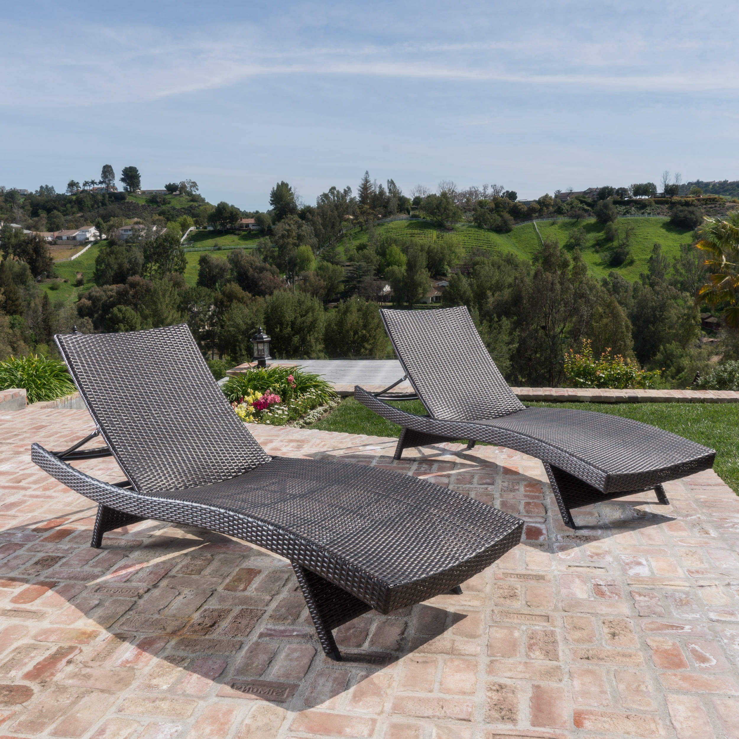 Most Current Thira Outdoor Wicker Chaise Lounge Chair (set Of 2)christopher Knight Home Pertaining To Outdoor Wicker Chaise Lounge Chairs (View 2 of 25)
