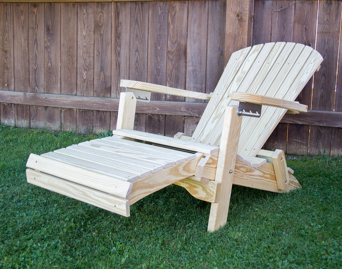 Most Current Treated Pine Folding/reclining Adirondack Chair W/footrest Within Adirondack Chairs With Footrest (View 15 of 25)
