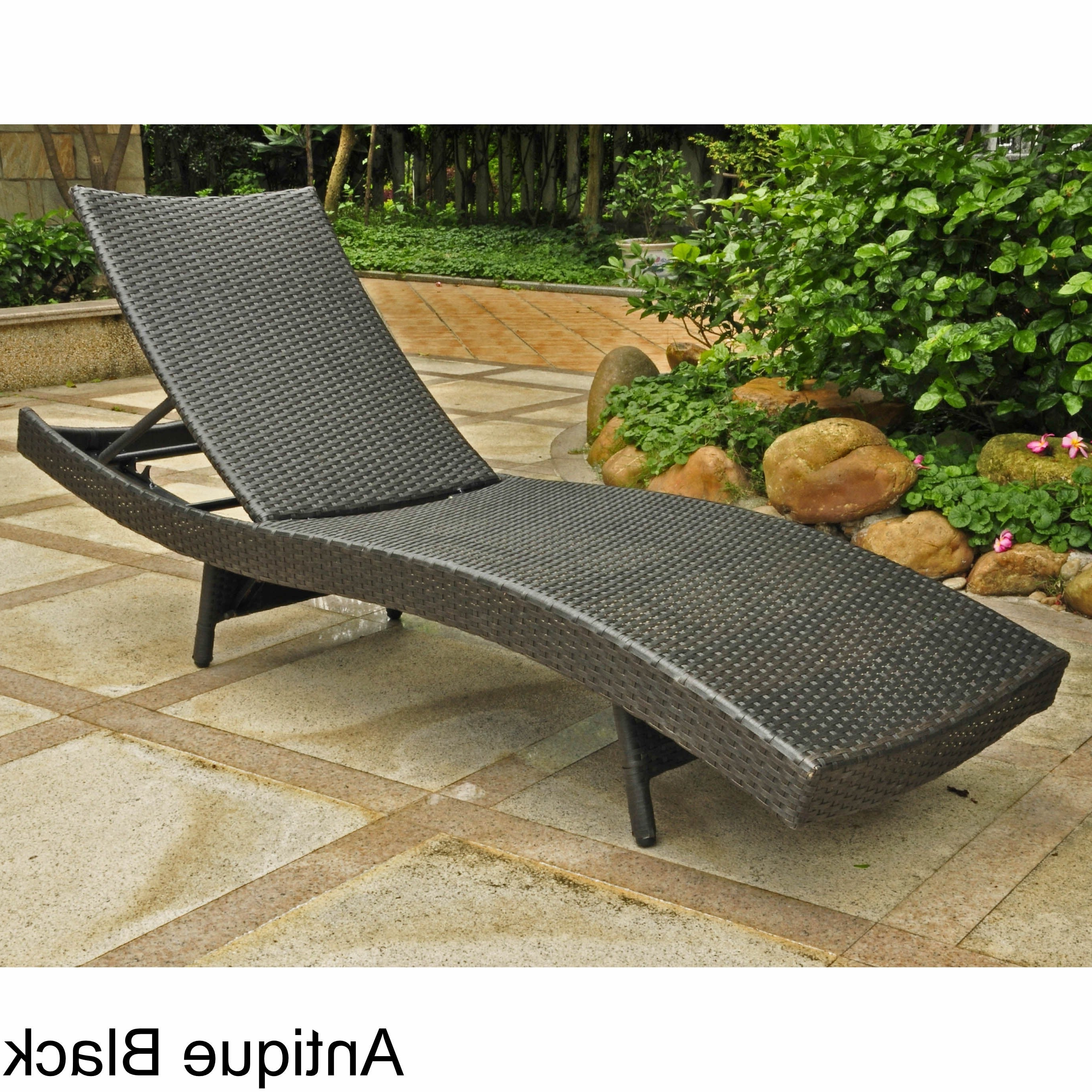 Most Popular International Caravan Barcelona Resin Wicker/aluminum Outdoor  Multi Position Chaise Lounge Regarding Outdoor Multi Position Chaise Lounges (View 8 of 25)