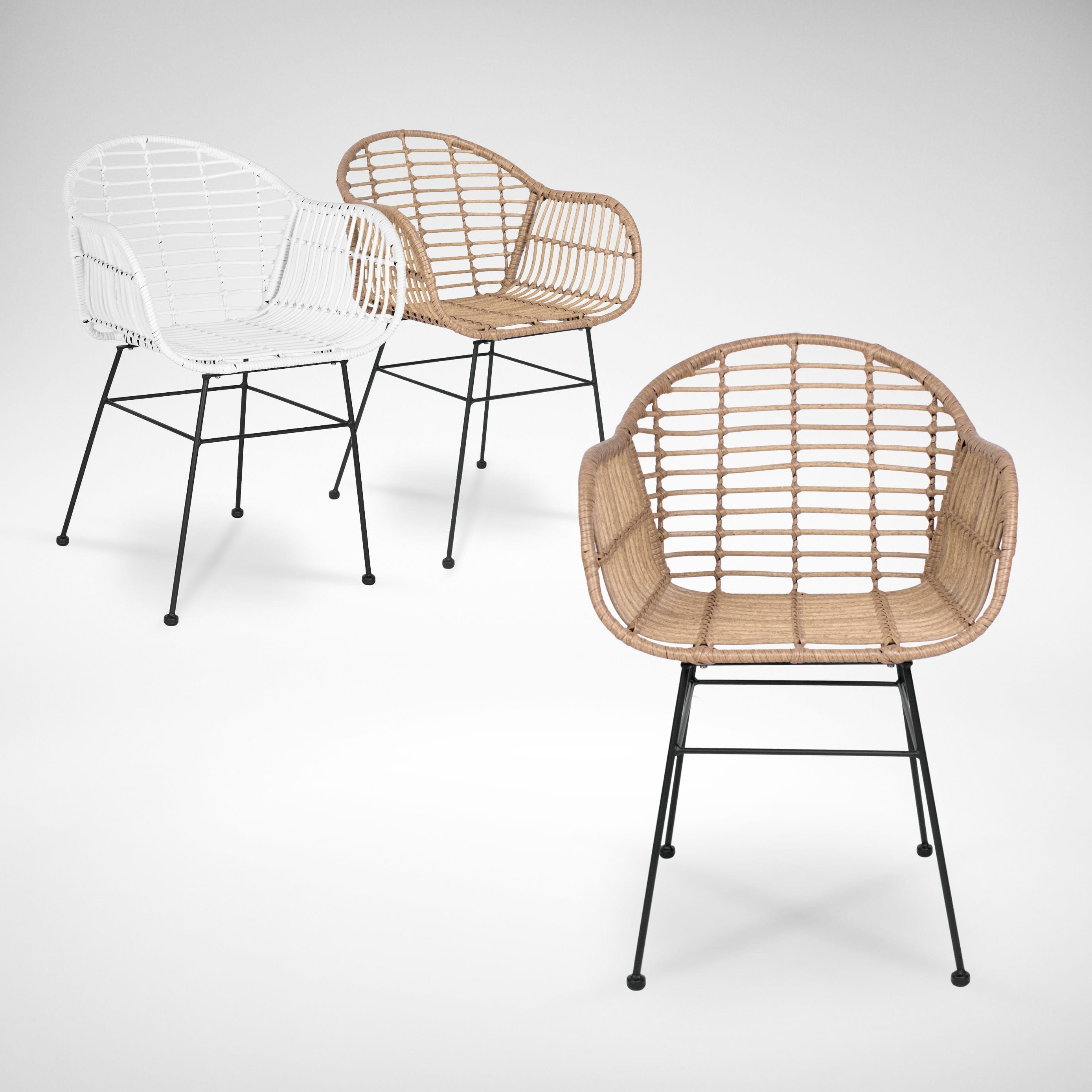 Most Popular Modern Home Wailea Woven Rattan Loungers For Monaco Outdoor Armchair (View 22 of 25)