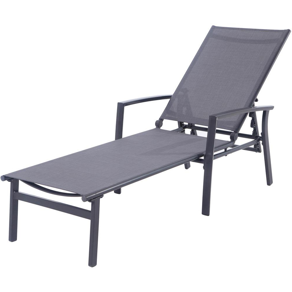 Most Popular Outdoor Aluminum Chaise Lounges Within Cambridge Nova Aluminum Adjustable Outdoor Chaise Lounge In Gray (View 12 of 25)