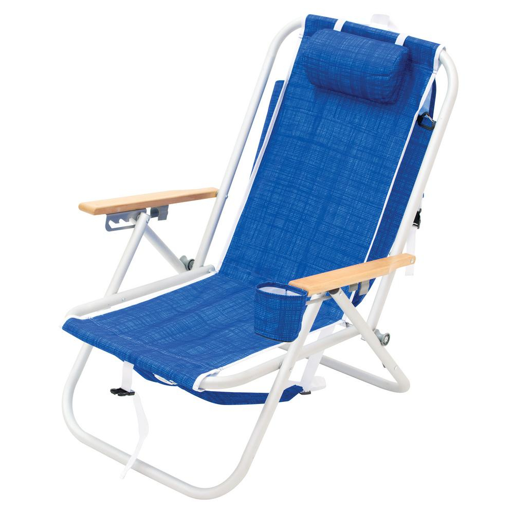 Most Popular Rio 4 Position Aluminum Backpack Beach Chair Intended For Folding Patio Lounge Beach Chairs With Canopy (View 13 of 25)
