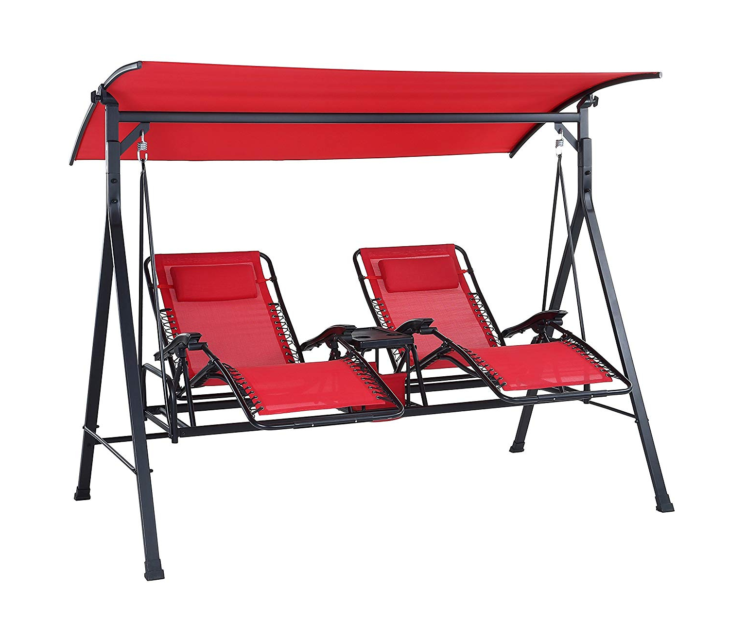 Most Recent Best Outdoor Reclining Zero Gravity Swing (september 2019 Regarding Double Reclining Lounge Chairs With Canopy (View 6 of 25)