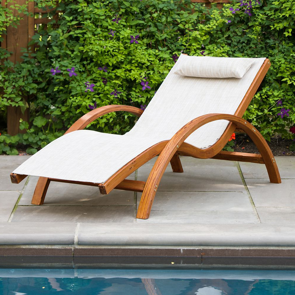 Most Recent Corliving Riverside Textured Loungers With Sling Lounge Chair (Gallery 20 of 25)