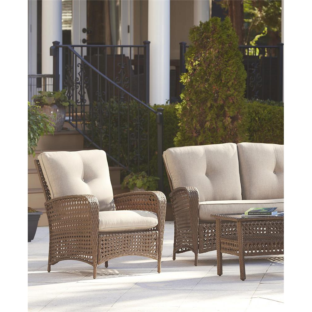 Most Recent Cosco Lakewood Ranch Steel Woven Wicker Patio Lounge Chairs With Tan Cushions (set Of 2) In Cosco Outdoor Steel Woven Wicker Chaise Lounge Chairs (View 20 of 25)