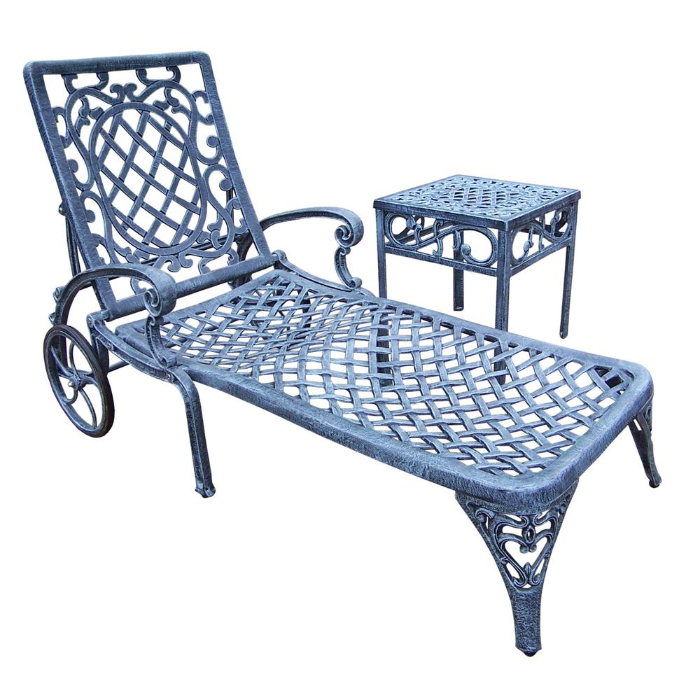 Most Recent Outdoor Aluminum Chaise Lounges In Aluminum Outdoor Chaise Lounge Without Cushion (2 Pack) (View 13 of 25)