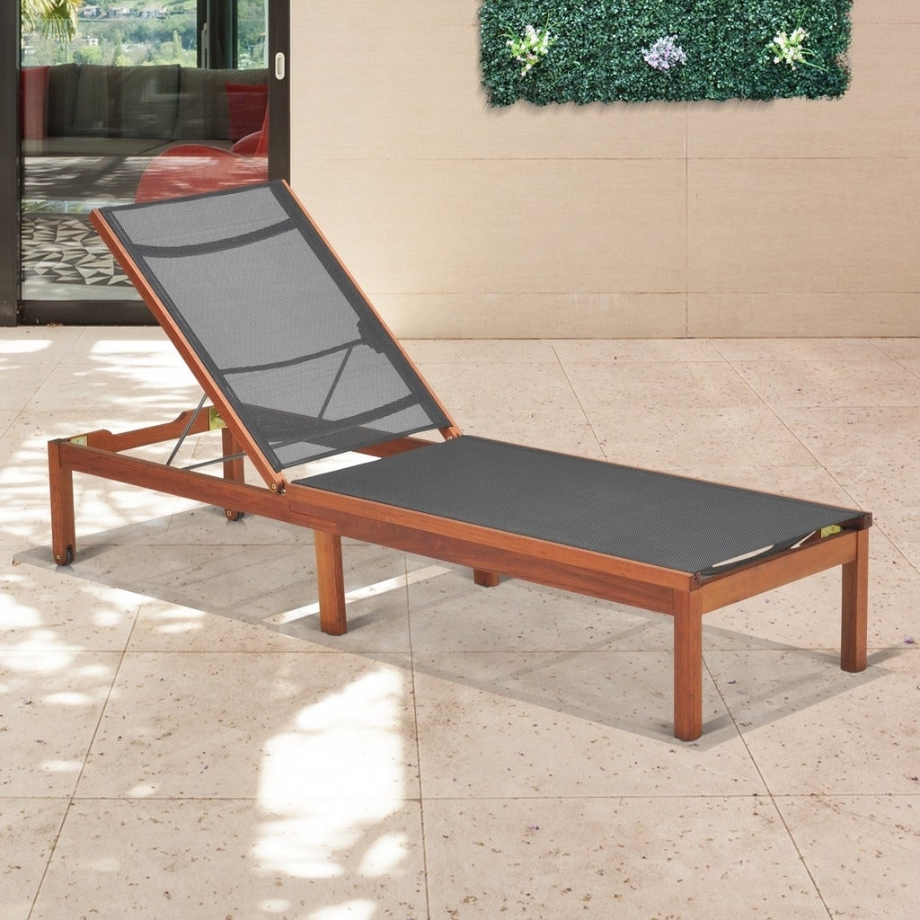 Most Recent Outdoor Sling Eucalyptus Chaise Loungers Intended For Amazonia Outdoor Sling Eucalyptus Chaise Lounger – N/a (View 10 of 25)