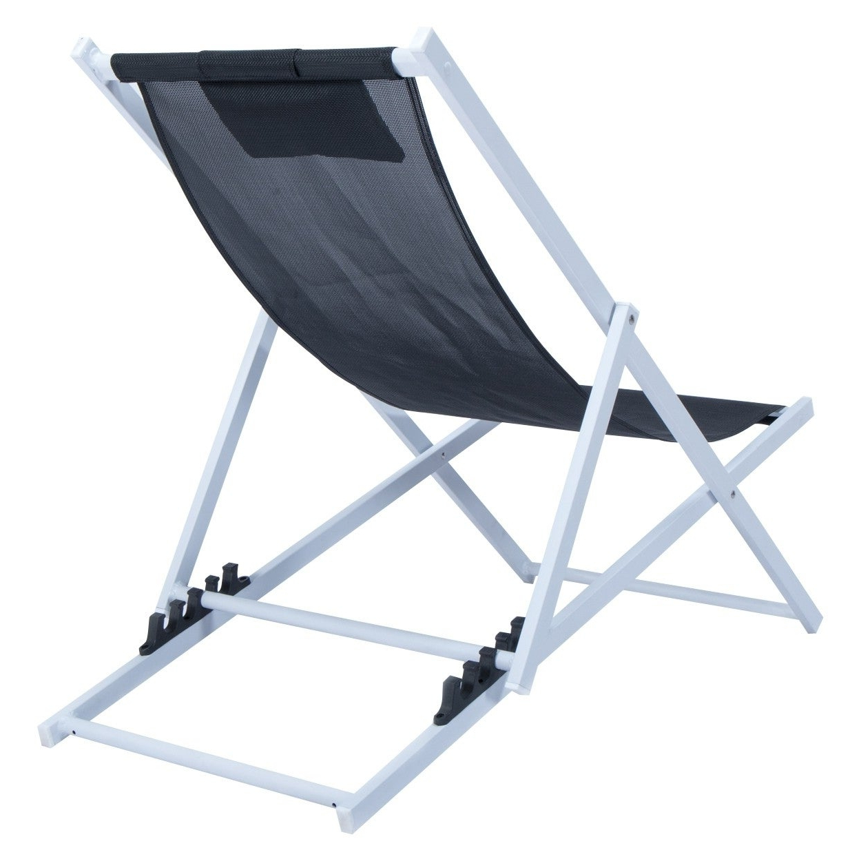 Most Recent Sunset Patio Sling Folding Chairs With Headrest With Leisuremod Sunset Patio Sling Folding Chair Adjustable With Headrest (Gallery 6 of 25)