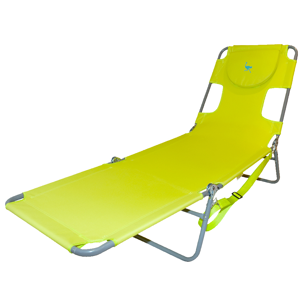 Most Recent The Ostrich Folding Chaise Lounge Chair Pertaining To 3 Position Portable Reclining Beach Chaise Lounges (Gallery 19 of 25)