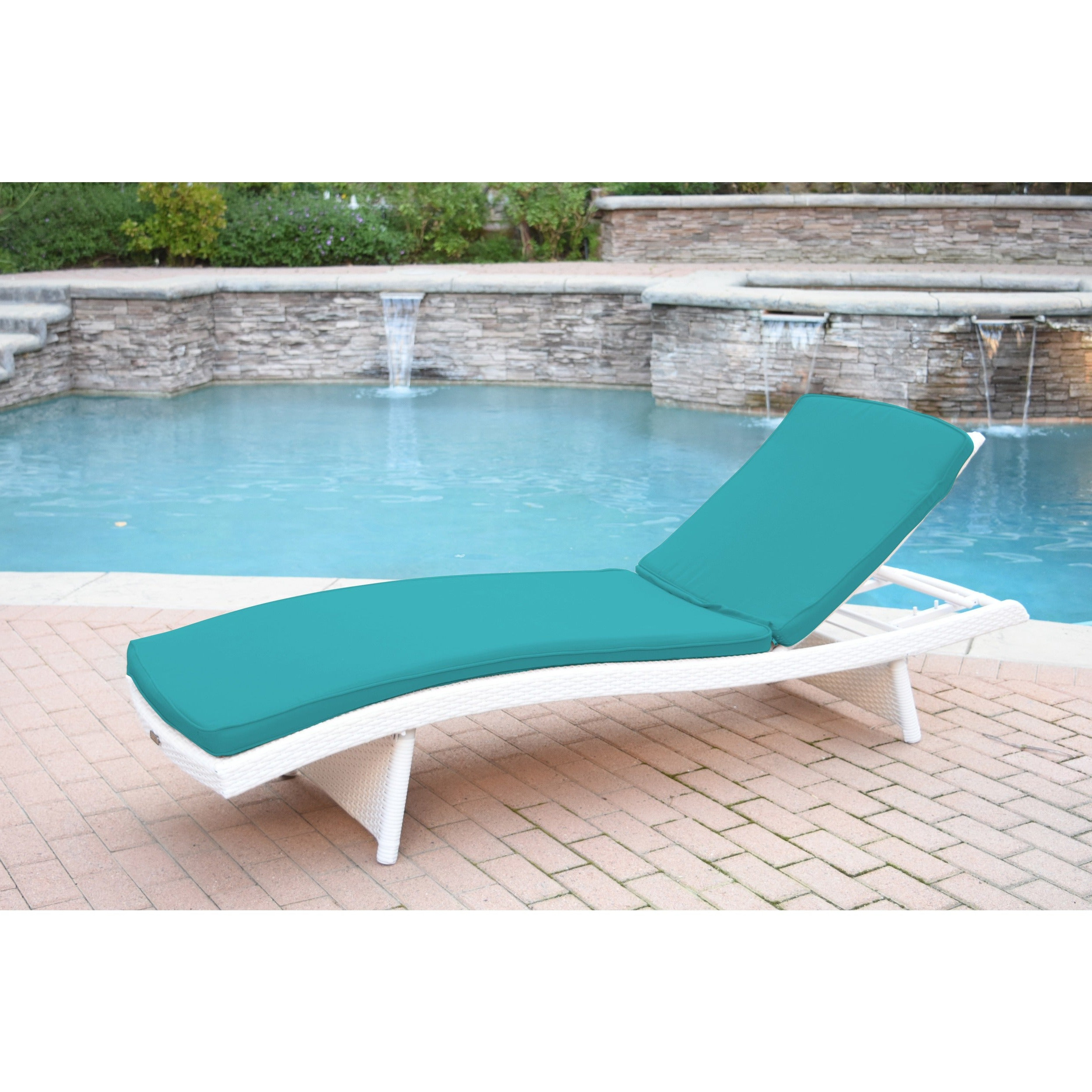 Most Recent Wicker Adjustable Chaise Loungers With Cushion With Regard To White Wicker Adjustable Chaise Lounger With Cushions (Gallery 21 of 25)