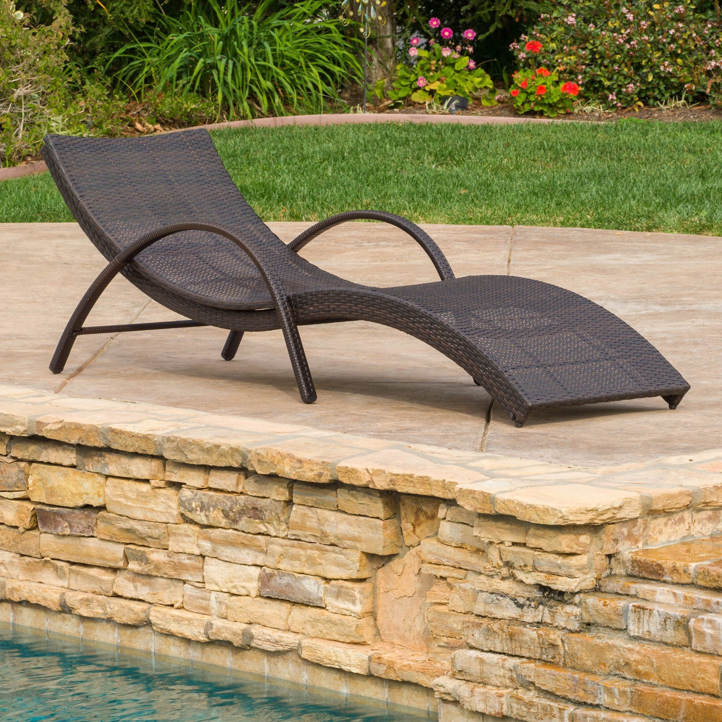 Most Recently Released Acapulco Outdoor Wicker Folding Armed Chaise Lounge Inside Resin Wicker Multi Position Double Patio Chaise Lounges (View 15 of 25)