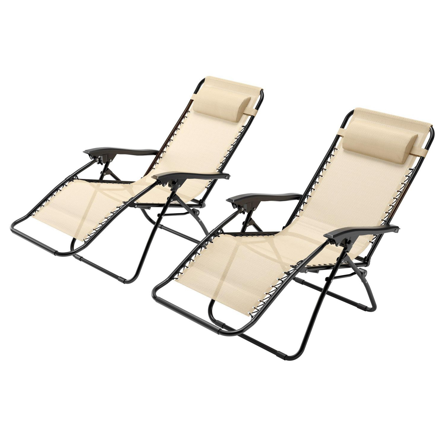 Most Recently Released Corliving Riverside Textured Loungers With Corliving Riverside Textured Mesh Zero Gravity Patio Lounger, Set Of 2 (Gallery 2 of 25)