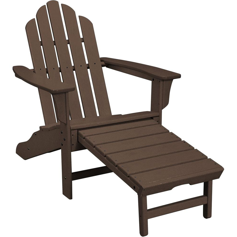 Featured Photo of Mahogany Adirondack Chairs with Ottoman