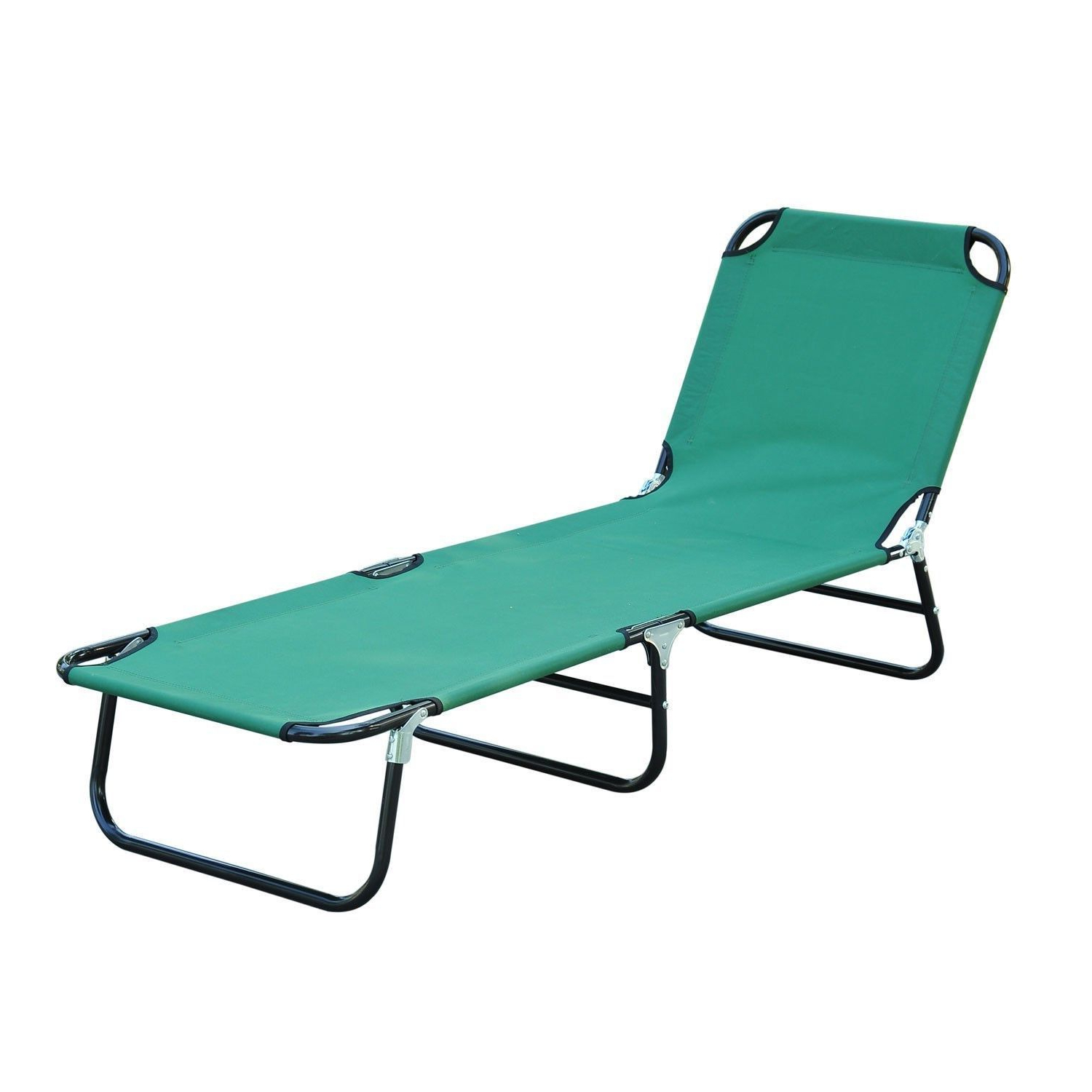 Most Recently Released Patio Foldable Chaise Lounge Chair Outdoor Camping Cot Sun Recliner Beach Pool For Portable Reclining Beach Chaise Lounge Folding Chairs (View 13 of 25)