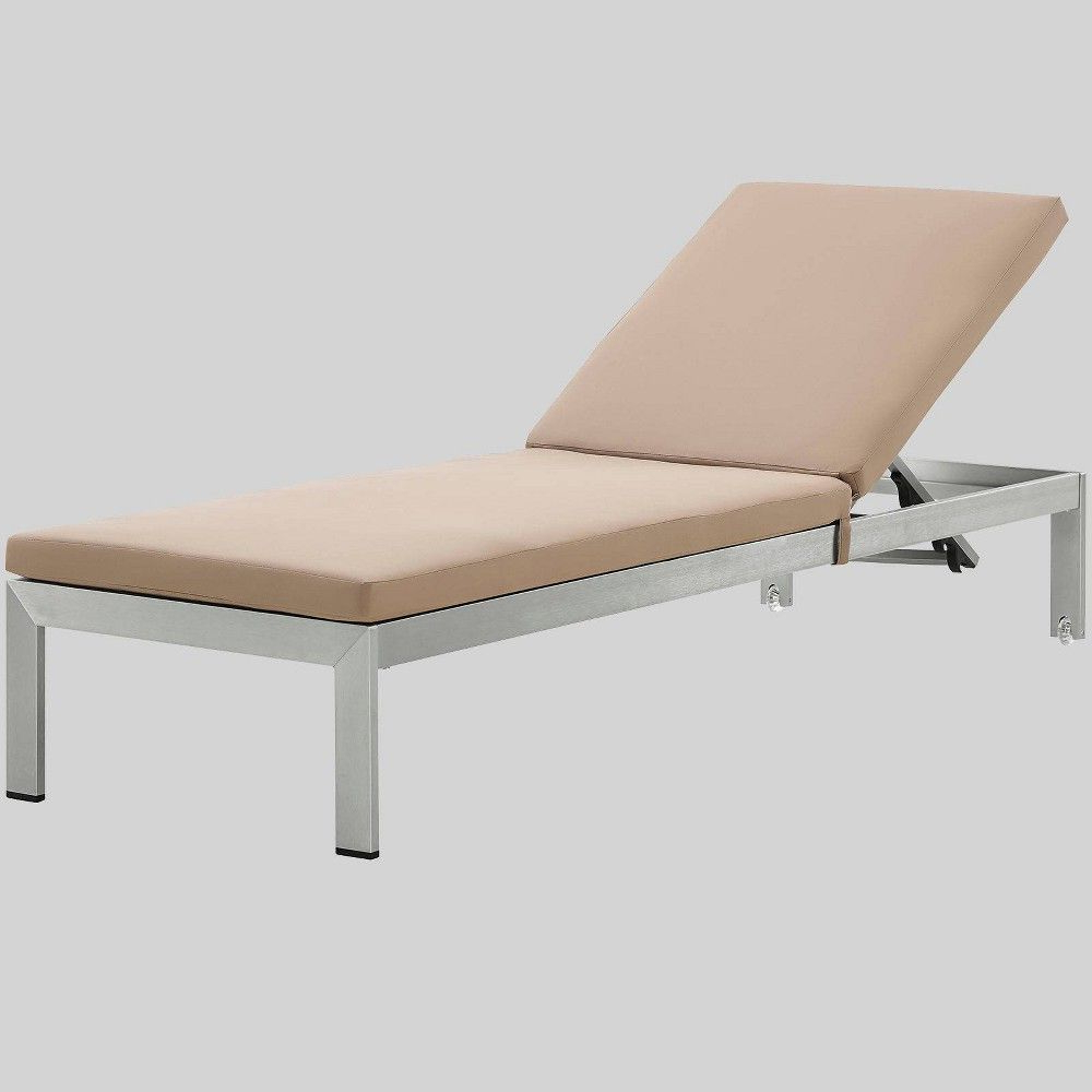 Most Recently Released Shore Aluminum Outdoor Chaise Lounges Intended For Shore Aluminum Outdoor Patio Chaise Lounge With Cushions (View 11 of 25)