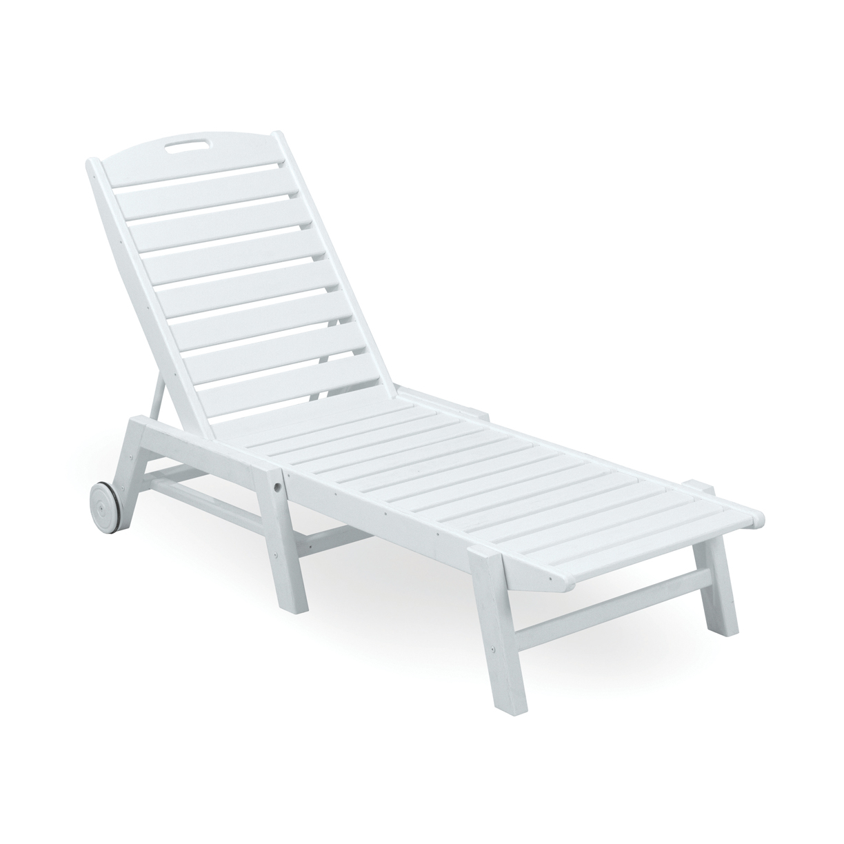 Most Recently Released Stackable Nautical Outdoor Chaise Lounges Within Polywood Nautical Recycled Plastic Folding Chaise Lounge W/wheels (View 9 of 25)
