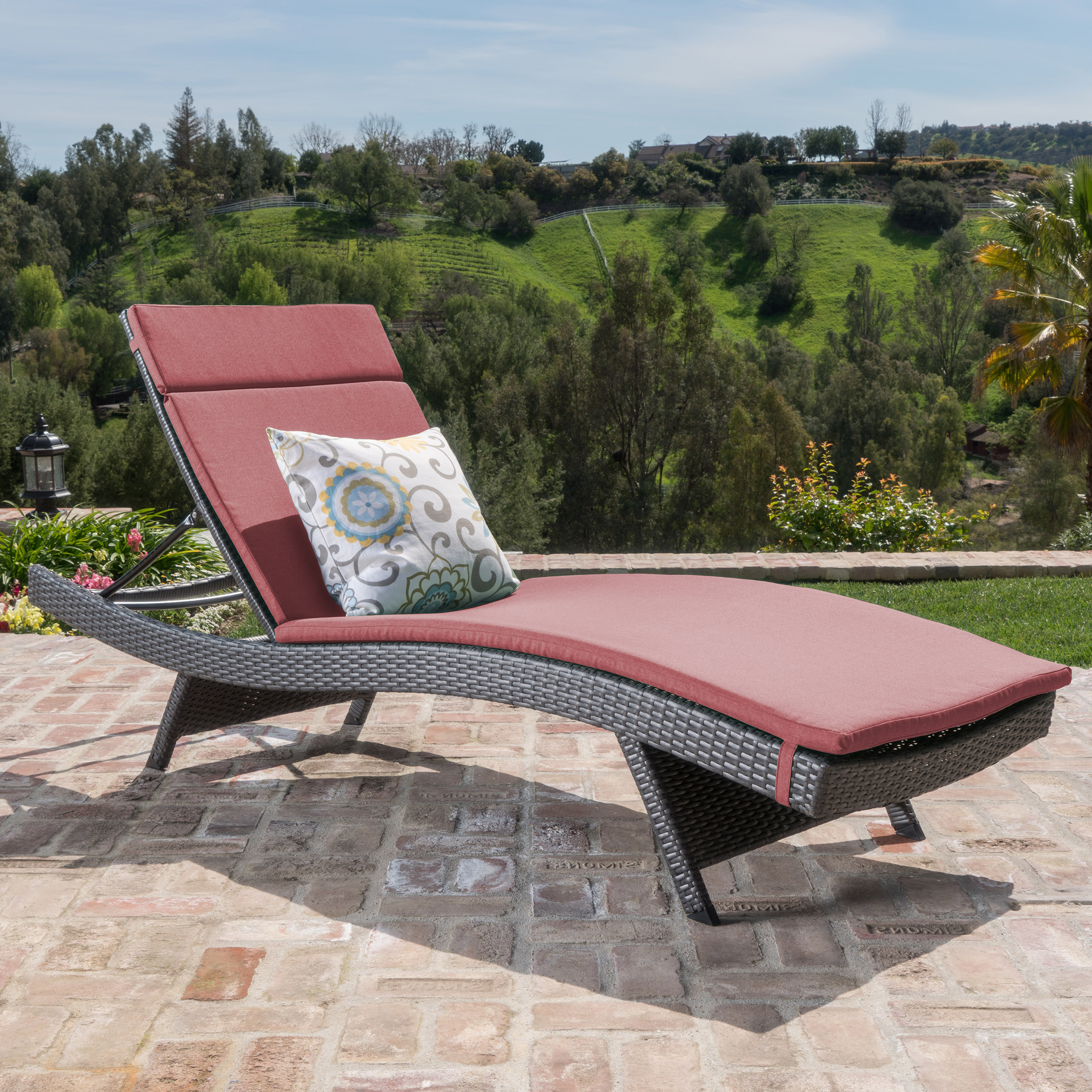 Most Up To Date Anthony Outdoor Wicker Adjustable Chaise Lounge With Cushion, Grey, Beige Throughout Outdoor Wicker Adjustable Chaise Lounges With Cushions (View 13 of 25)