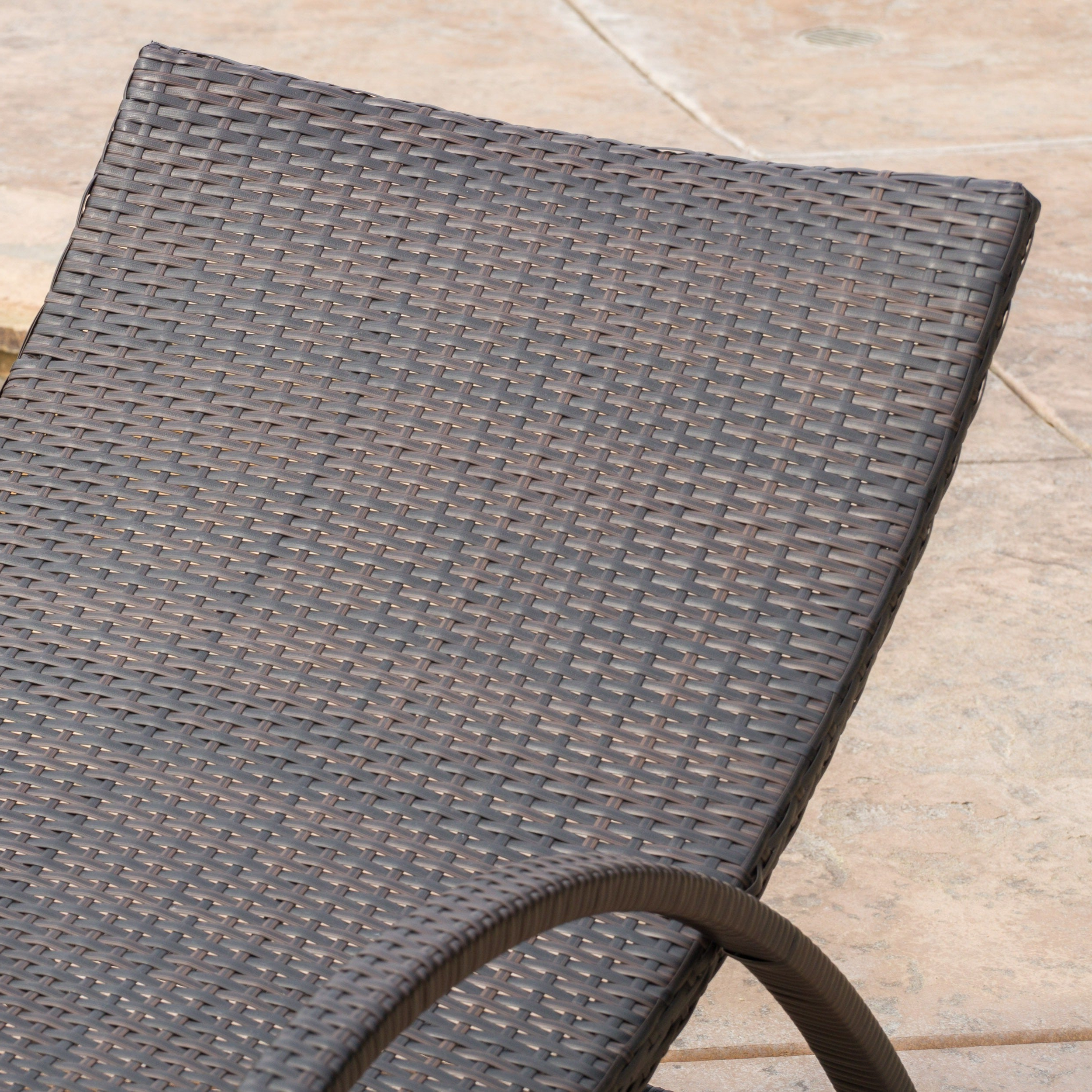 Most Up To Date Brown Folding Patio Chaise Lounger Chairs With Acapulco Outdoor Wicker Folding Armed Chaise Lounge (Set Of 2) Christopher Knight Home (View 17 of 25)