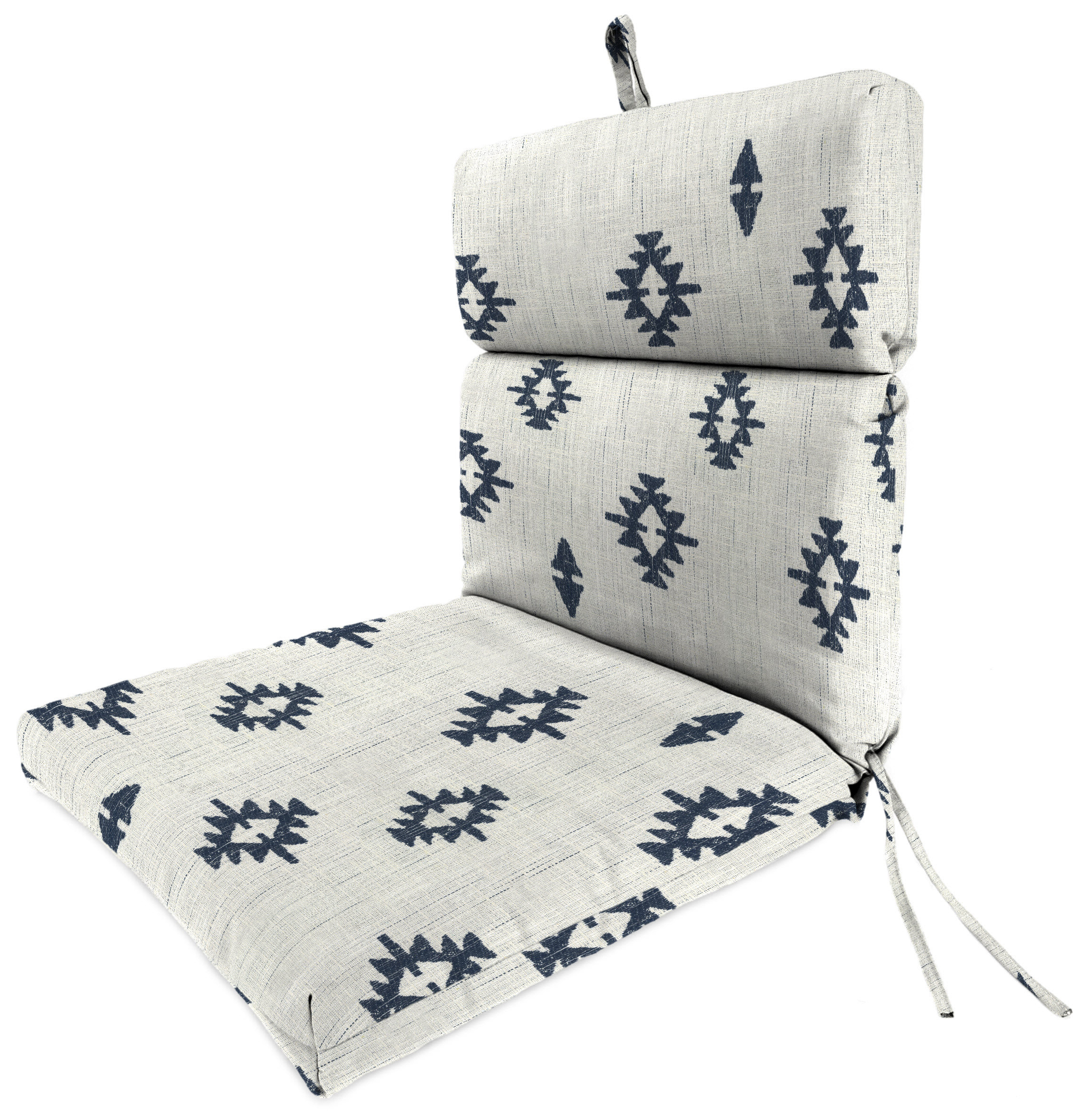 Most Up To Date Chaise Lounge Chairs In White With Navy Cushions Within Indoor/outdoor Lounge Chair Cushion (View 17 of 25)