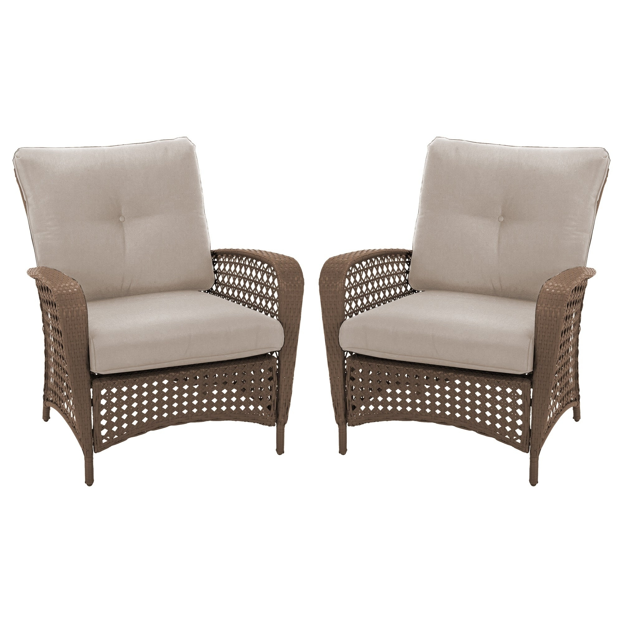 Most Up To Date Cosco Outdoor Living Lakewood Ranch Steel Woven Wicker Lounge Chairs With Cushions (set Of 2 Chairs) For Cosco Outdoor Steel Woven Wicker Chaise Lounge Chairs (View 18 of 25)