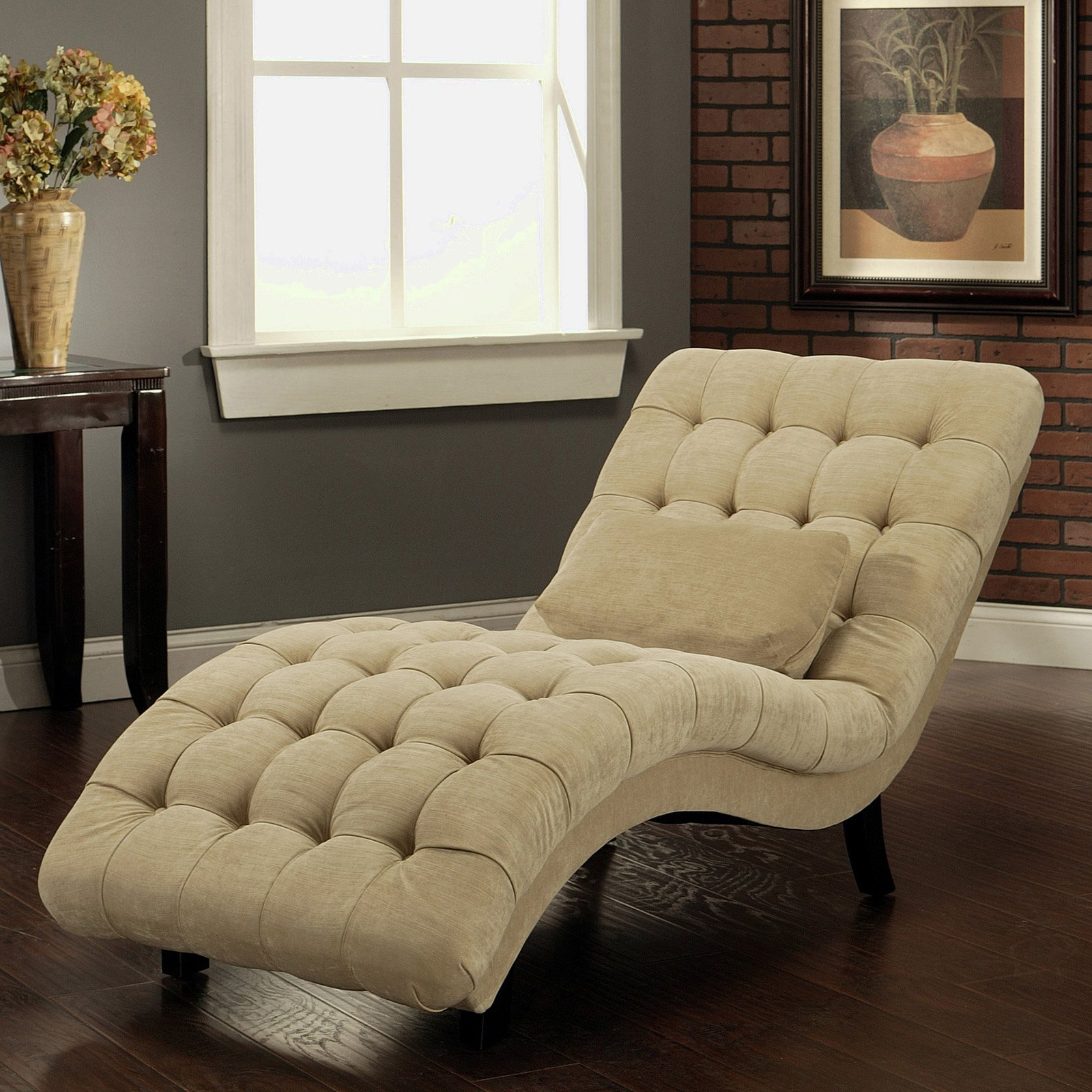 Most Up To Date Furniture White Fabric Chaise Lounge Chairs With Backrest Intended For Lounge Chairs In White With Grey Cushions (View 24 of 25)