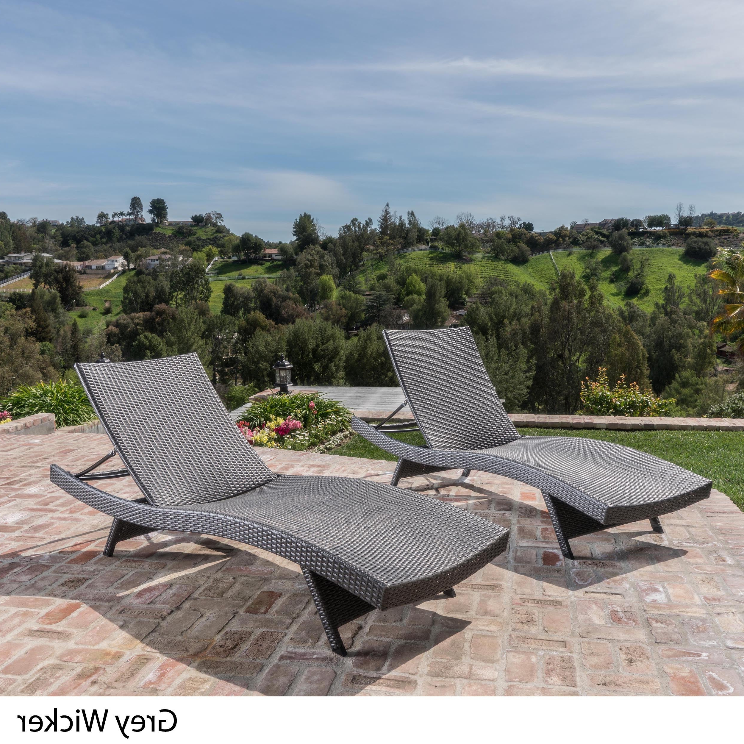 Most Up To Date Havenside Home Vilano Outdoor Lounge Chairs (set Of 2) Throughout Wicker Chaise Back Adjustable Patio Lounge Chairs With Wheels (View 9 of 25)