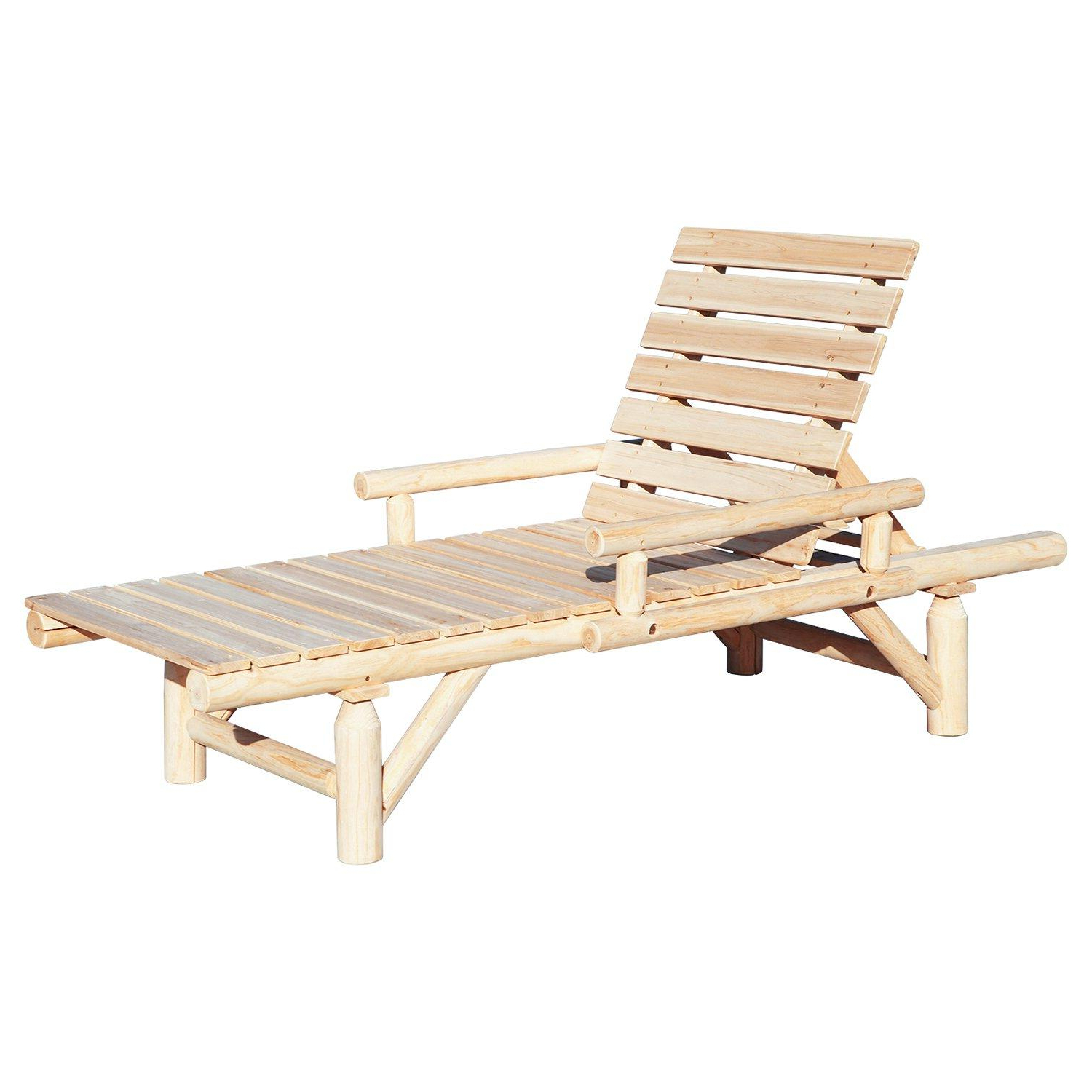 Most Up To Date New Merax Outdoor Adjustable Chaise Lounge Chair Camping Inside Outdoor Adjustable Wood Chaise Lounges (View 18 of 25)