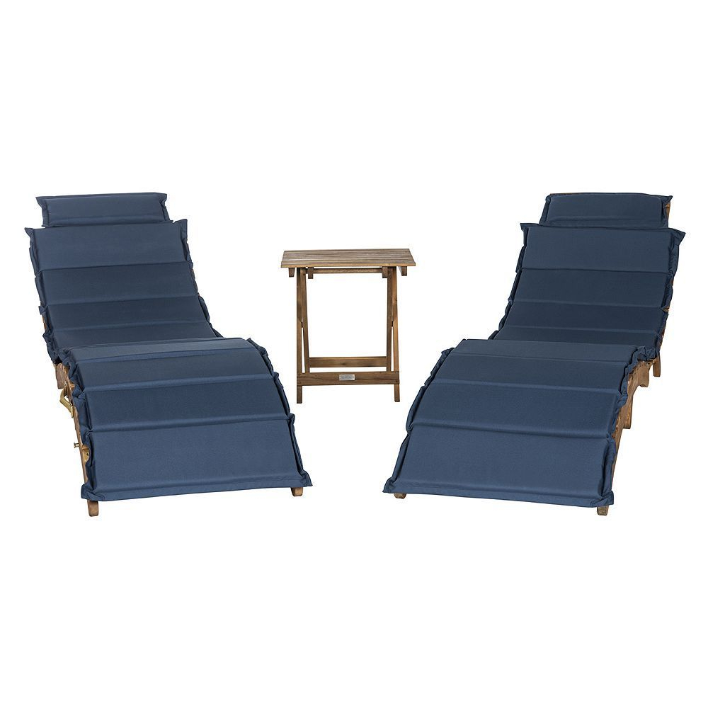 Most Up To Date Safavieh Pacifica Patio Lounge Chair & End Table 3 Piece Set Regarding Outdoor Living Pacifica Piece Lounge Sets (View 3 of 25)