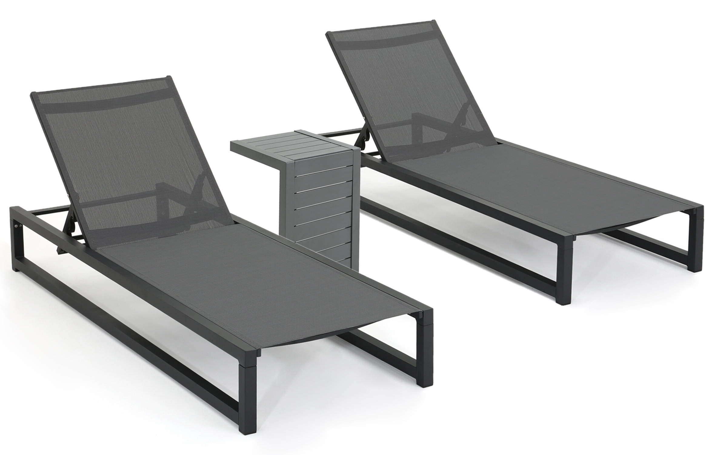 Most Up To Date Santini Reclining Chaise Lounge With Table Regarding Plastic Chaise Lounges W/ Wheels (View 18 of 25)
