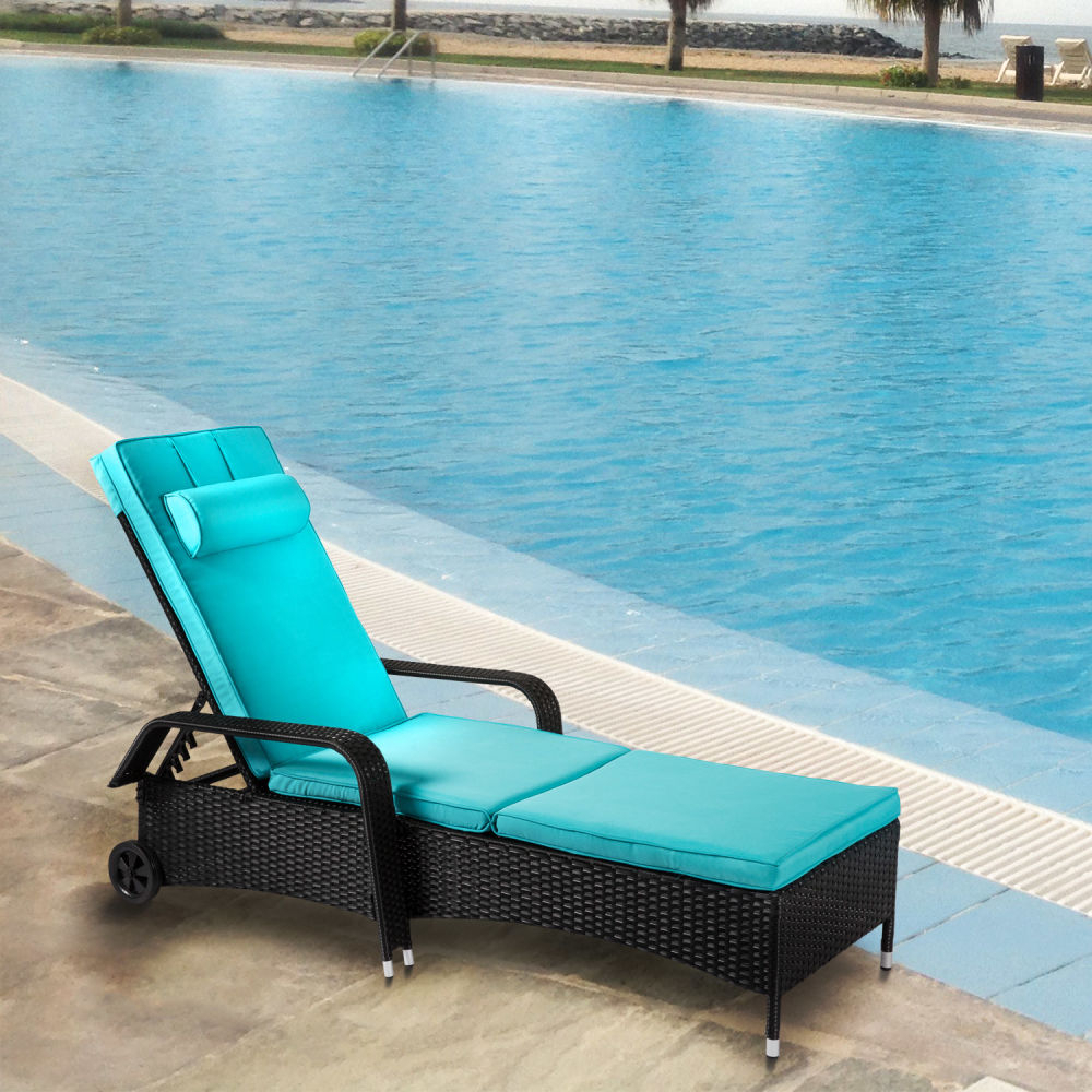 Most Up To Date Shop For Kinbor Outdoor Wicker Chaise Lounge Chair All With Outdoor Adjustable Reclining Wicker Chaise Lounges (View 12 of 25)