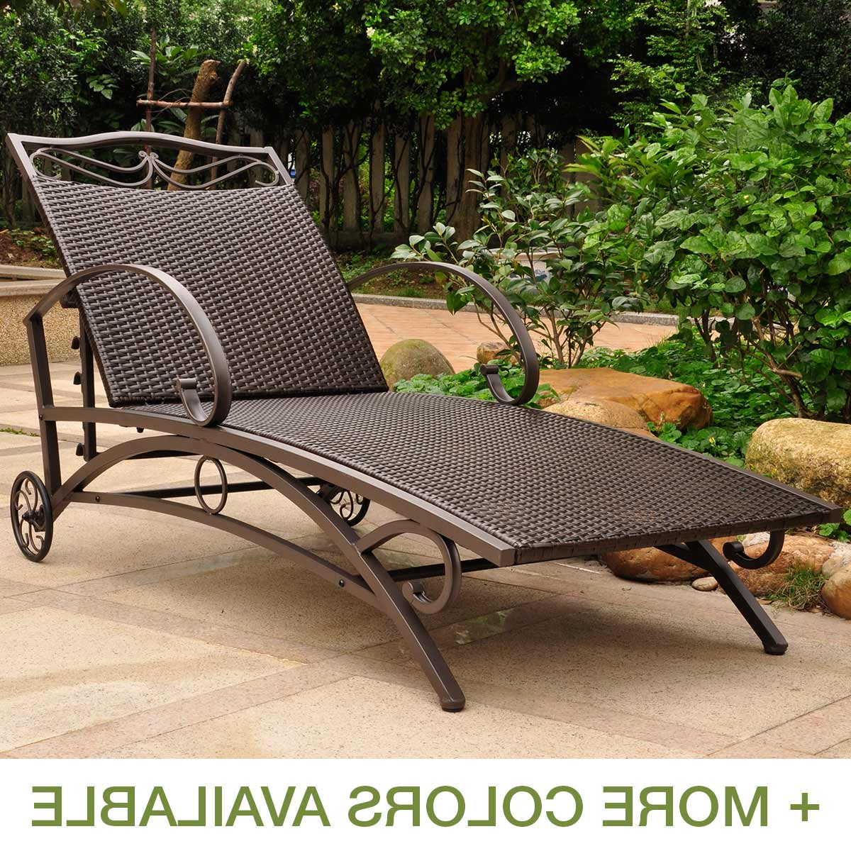 Multi Position Iron Chaise Lounges With Most Recently Released International Caravan Valencia Resin Wicker Multi Position (Gallery 13 of 25)