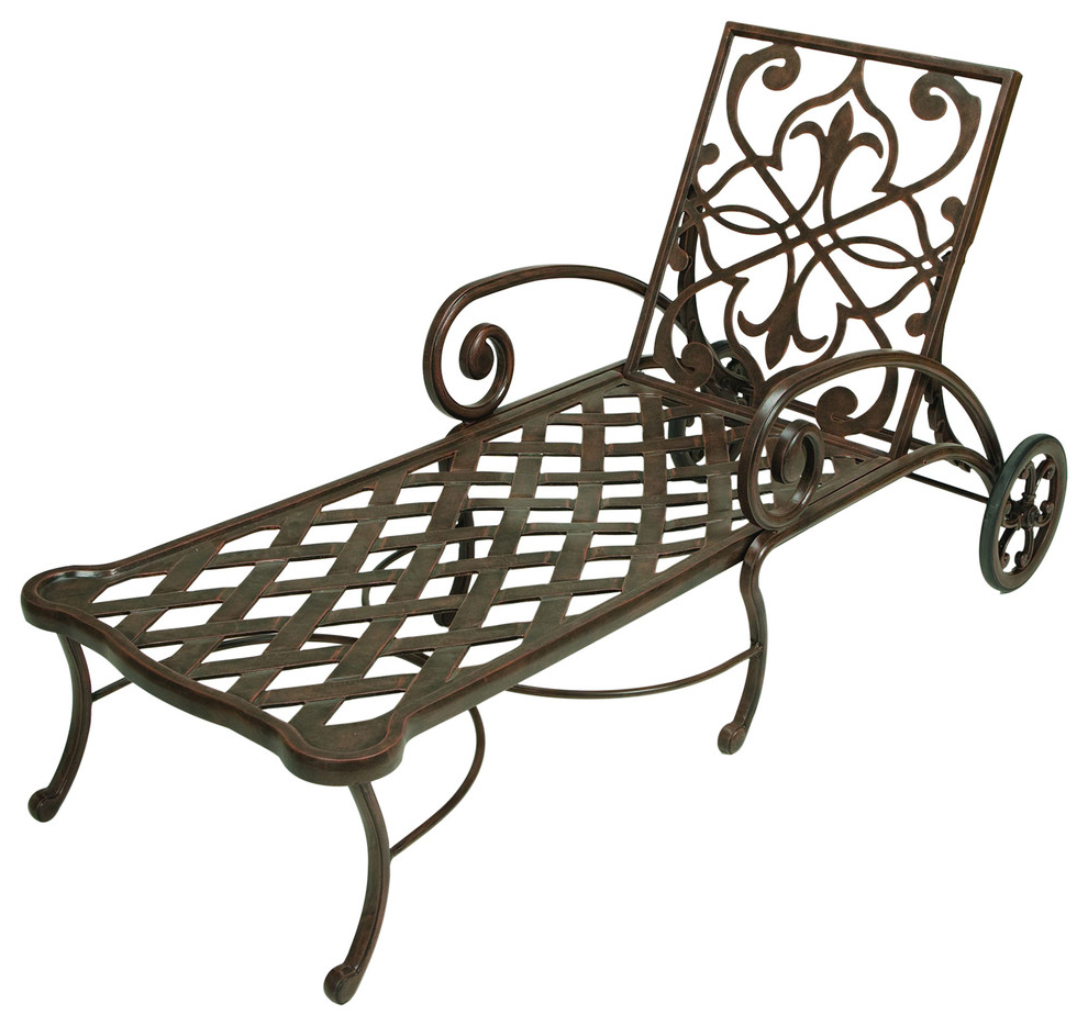 Multi Position Iron Chaise Lounges Within Favorite Catalina Solid Cast Aluminum Chaise Lounge (Gallery 20 of 25)