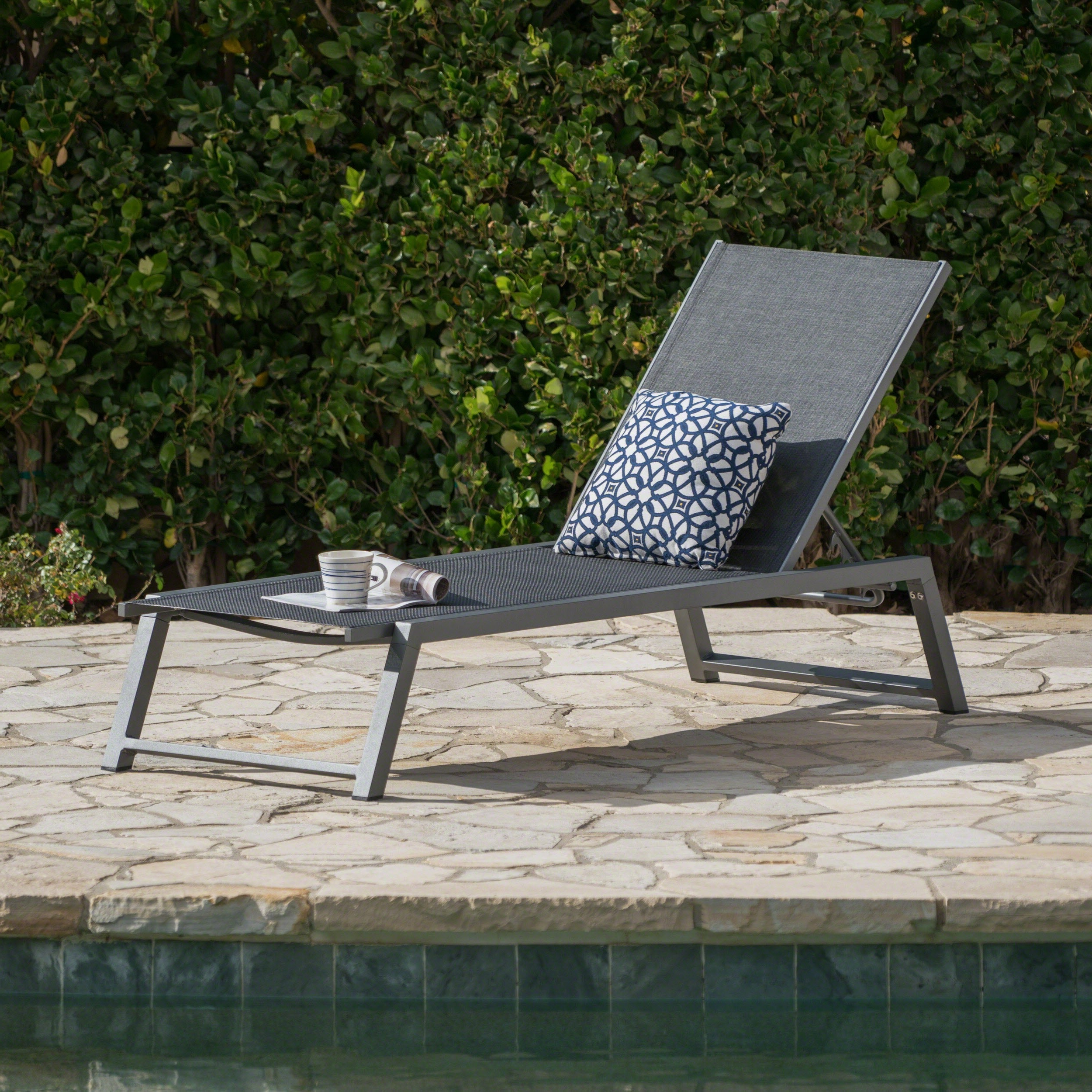 Myers Outdoor Aluminum Mesh Chaise Loungechristopher Knight Home With Trendy Cape Coral Outdoor Aluminum Chaise Lounges (View 18 of 25)