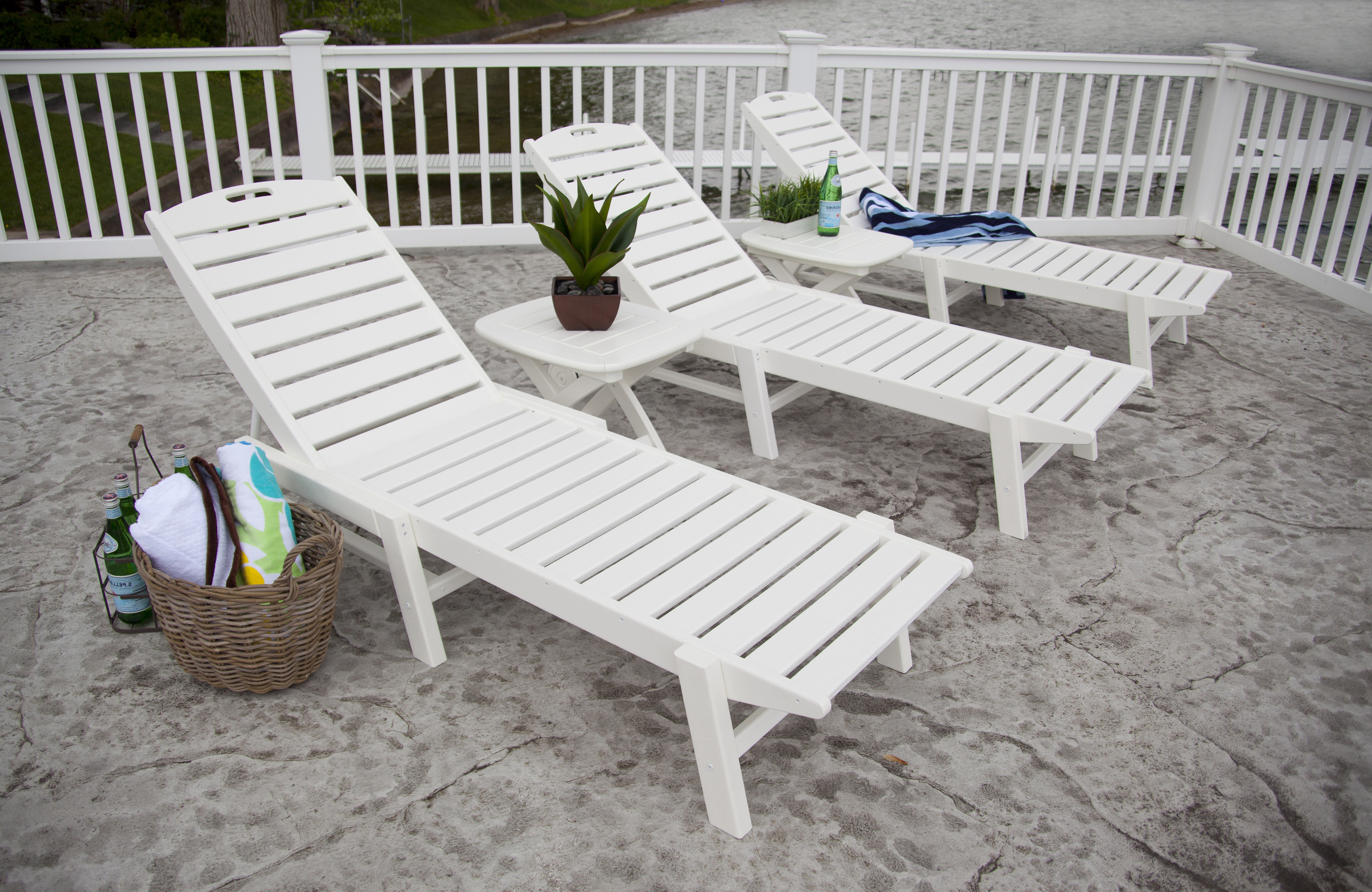 Nautical Chaise Lounge – Stackable With Famous Stackable Nautical Outdoor Chaise Lounges (View 10 of 25)