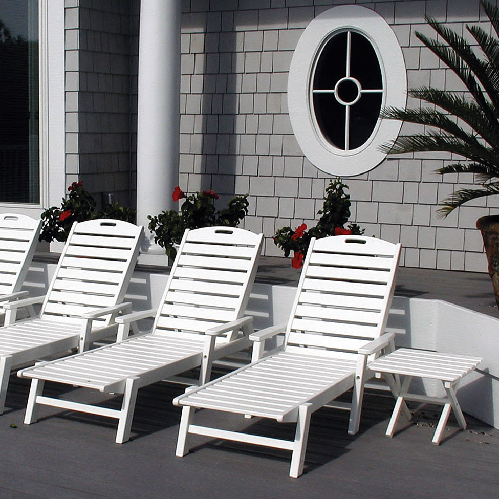 Nautical Outdoor Chaise Lounges With Arms In Latest Polywood Nautical Chaise Lounge (View 19 of 25)