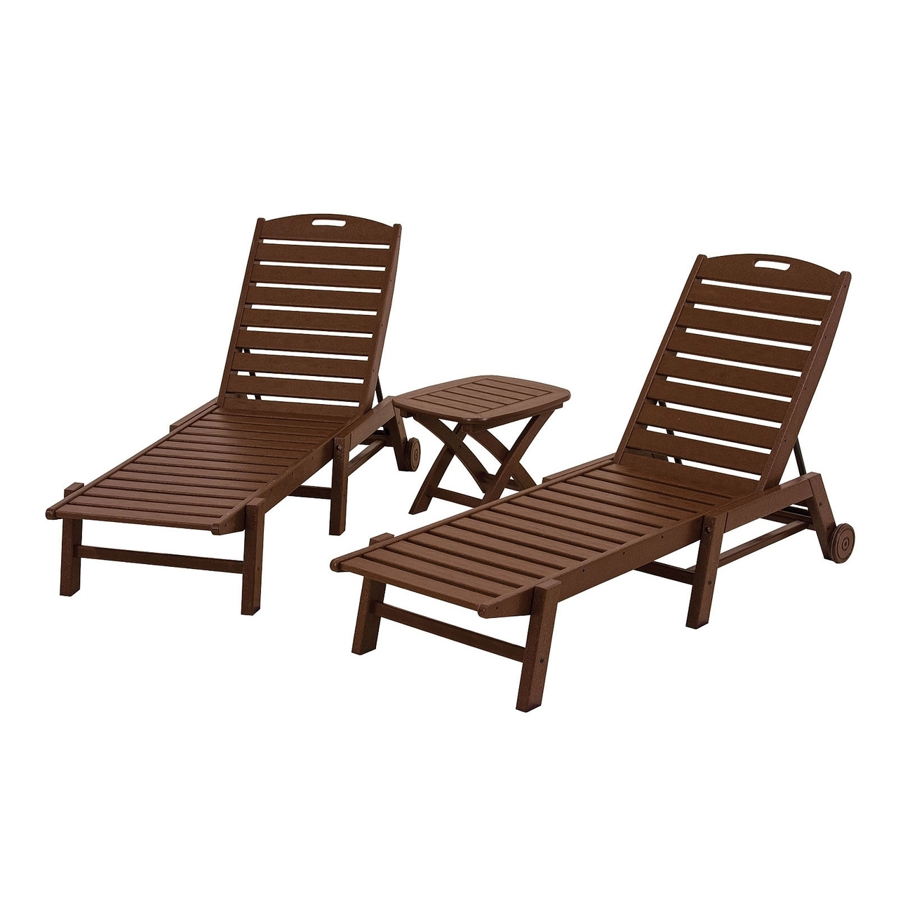 Nautical Wheeled Stackable Chaise Lounges Inside Most Up To Date Polywood® Nautical Wheeled Chaise – Stackable – Amish Yard (View 25 of 25)