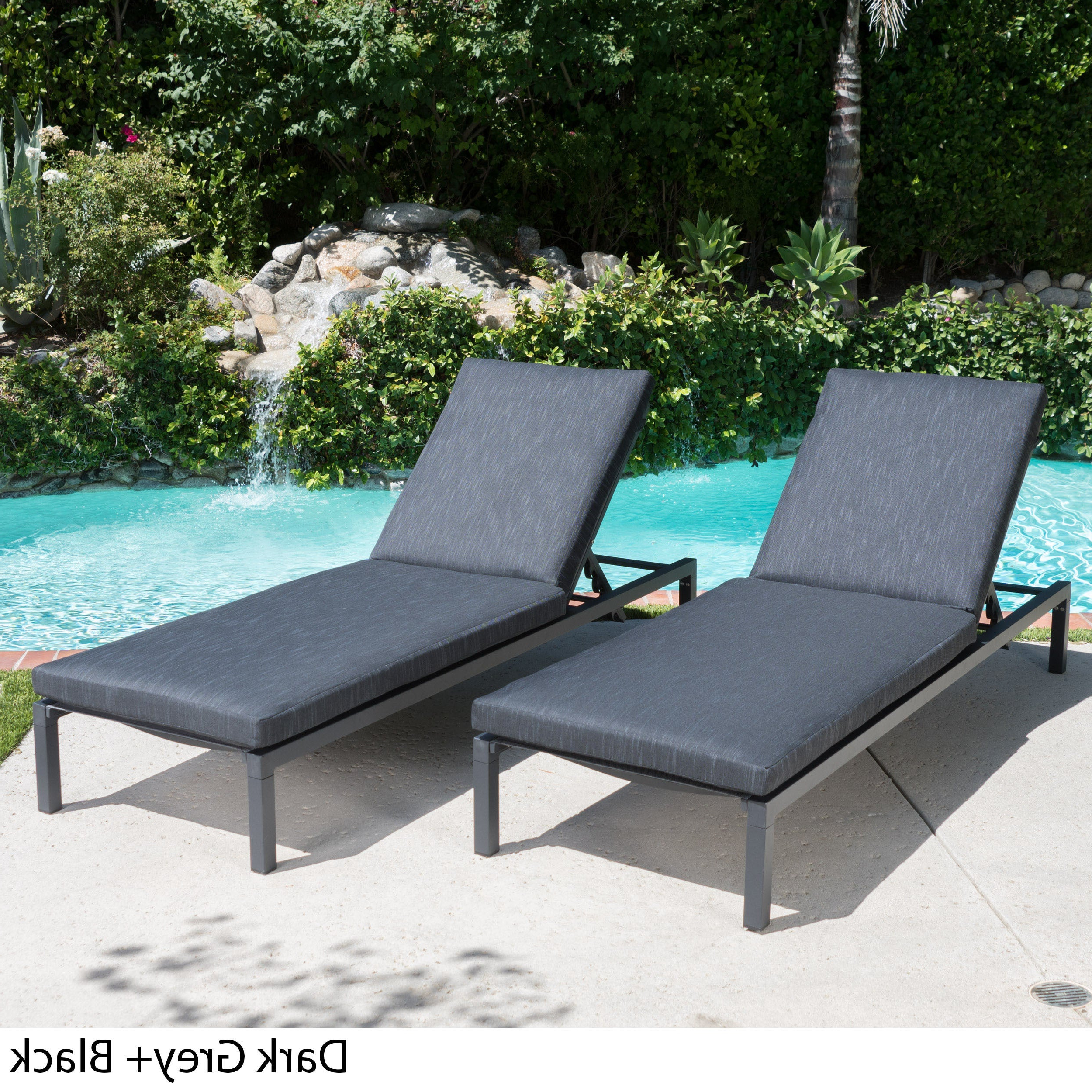 Featured Photo of Navan Outdoor Aluminum Chaise Lounges with Cushion