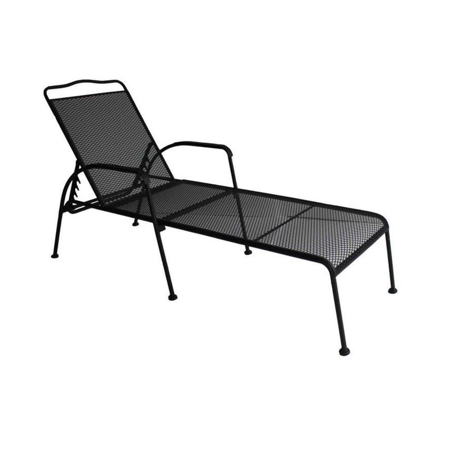 Navan Outdoor Aluminum Chaise Lounges With Cushion Inside Latest Black Outdoor Chaise Lounge Chair (View 25 of 25)