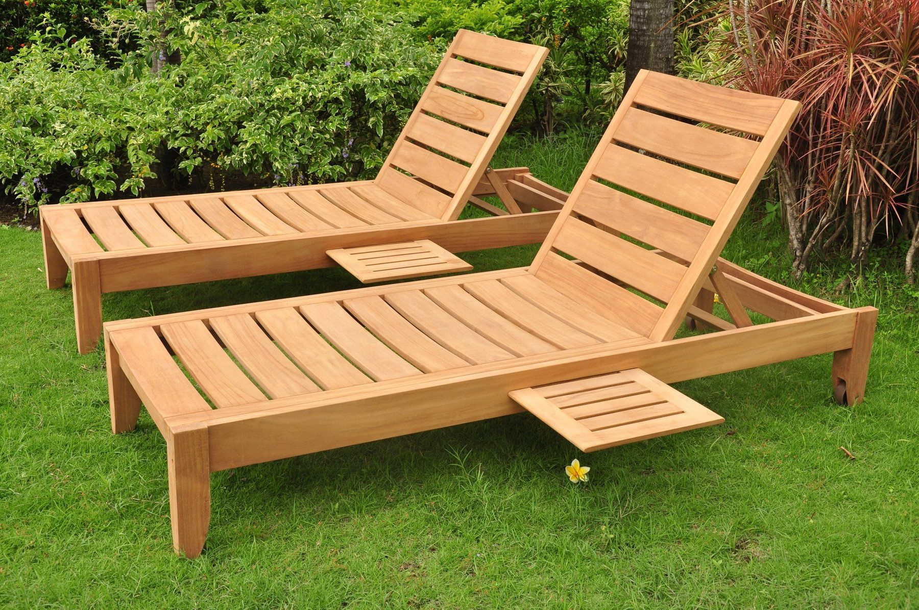 Newest Amazon : Grade A Teak Wood Luxurious Multi Position Sun Regarding Cambridge Casual Sherwood Teak Chaise Lounges (View 16 of 25)