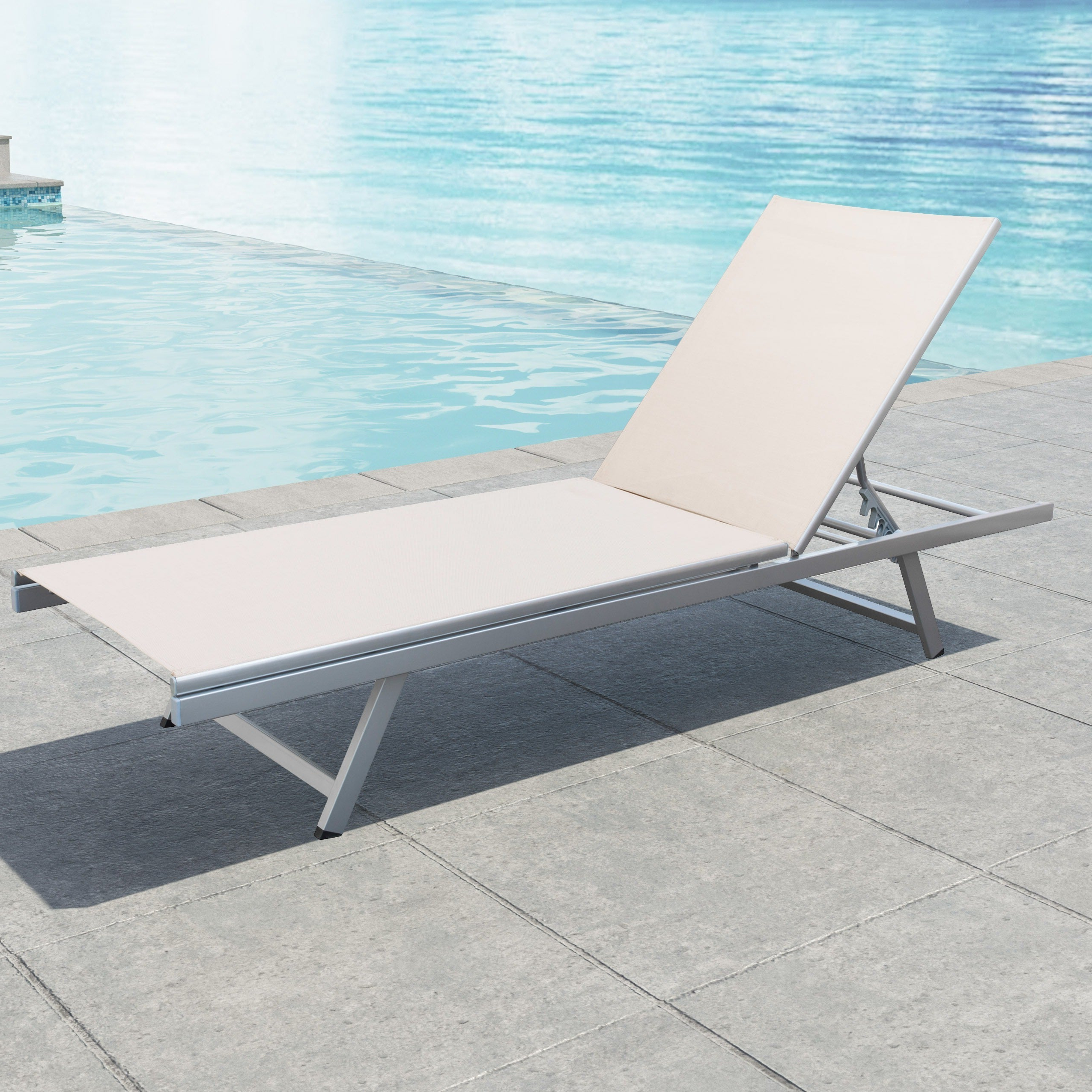 Featured Photo of Havenside Home Newtok Mesh Reclining Patio Loungers